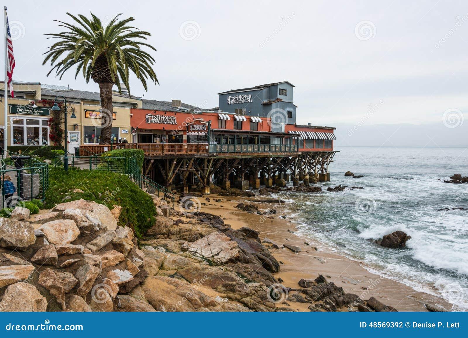 Cannery rzędu molo, plaża, Monterey zatoka Kalifornia