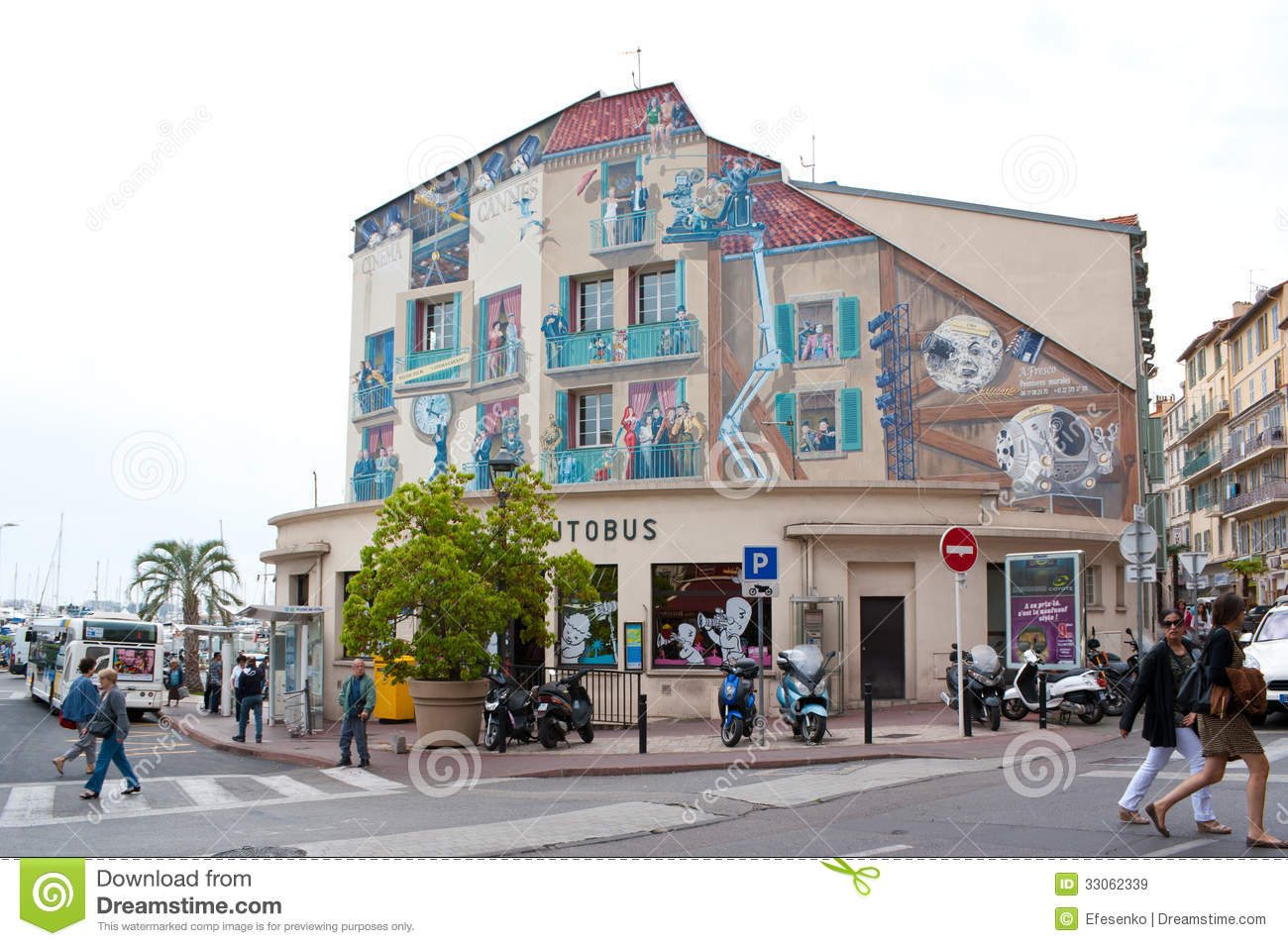 Narrow Home Plans Cannes Central Bus Station Editorial Stock Image Image
