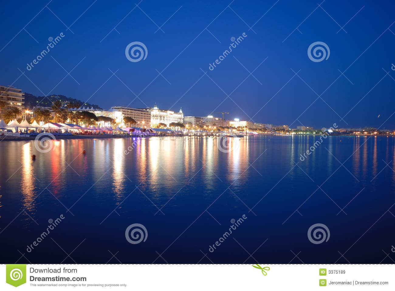 cannes festival by night royalty free stock images image 3375189. Black Bedroom Furniture Sets. Home Design Ideas