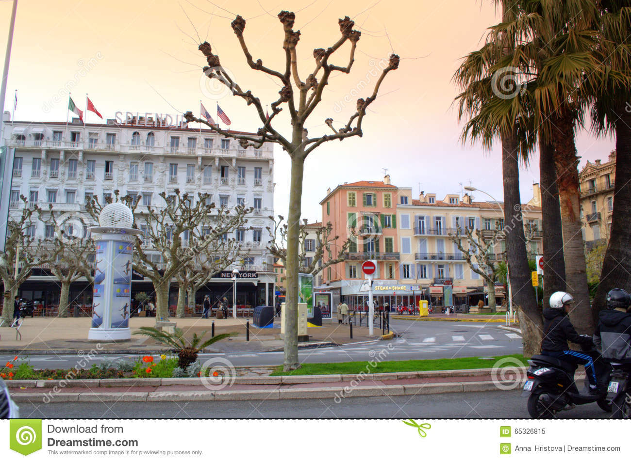 cannes street view france editorial image image of buildings 65326815. Black Bedroom Furniture Sets. Home Design Ideas
