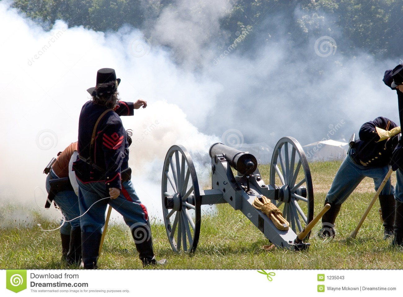 Download Cannon fire 4 stock image. Image of glory, blue, costume - 1235043