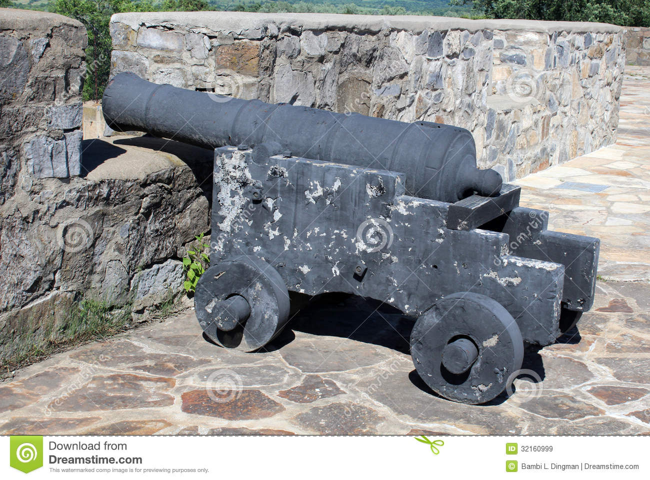 Cannon At Fort Ticonderoga Royalty Free Stock Images