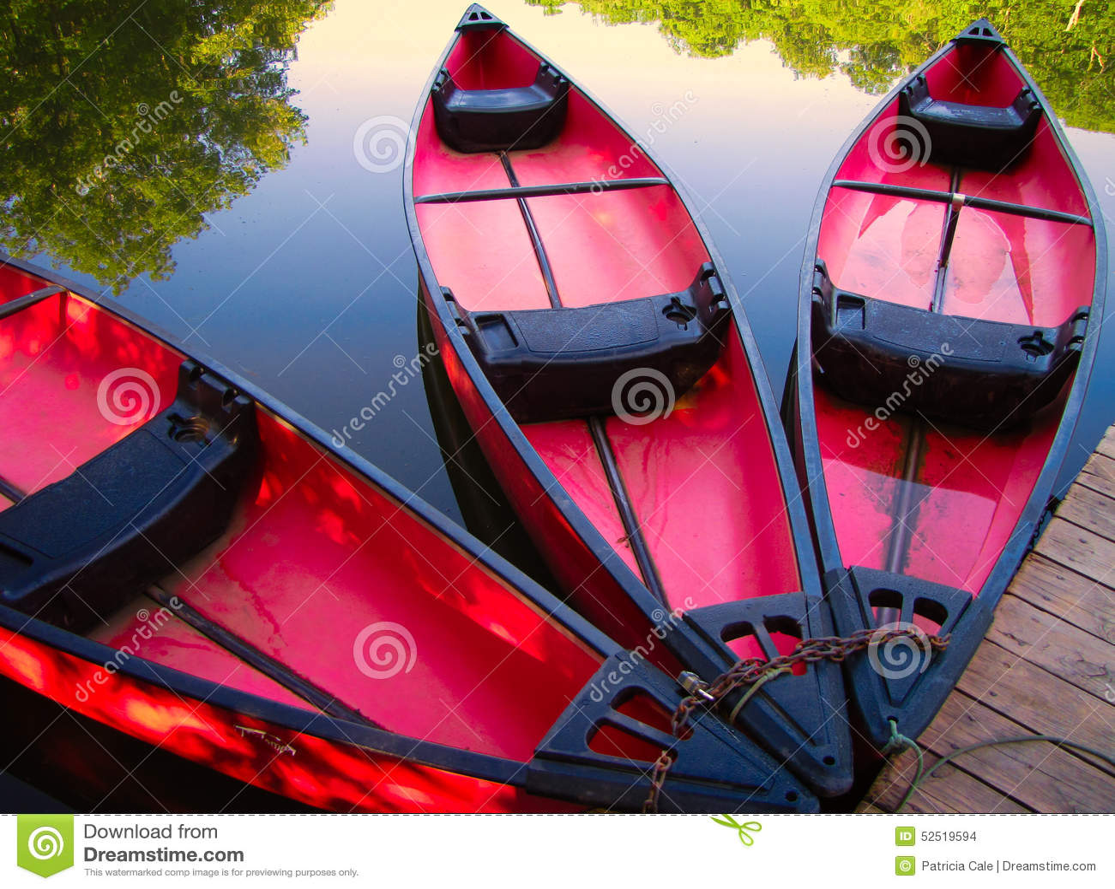 Canoës au dock