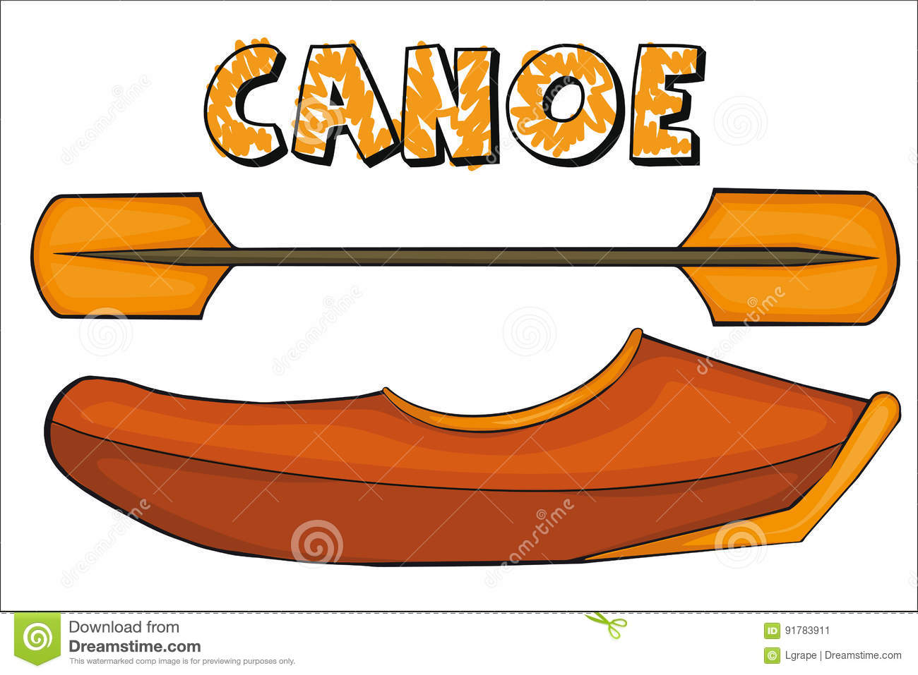 Canoe cartoons illustrations vector stock images