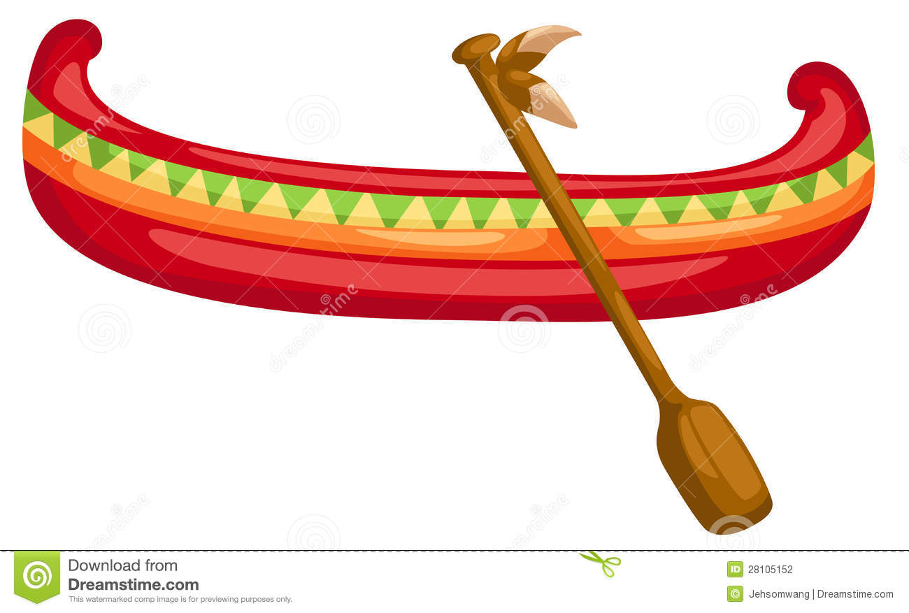 Canoe with Paddle stock vector. Illustration of single ...