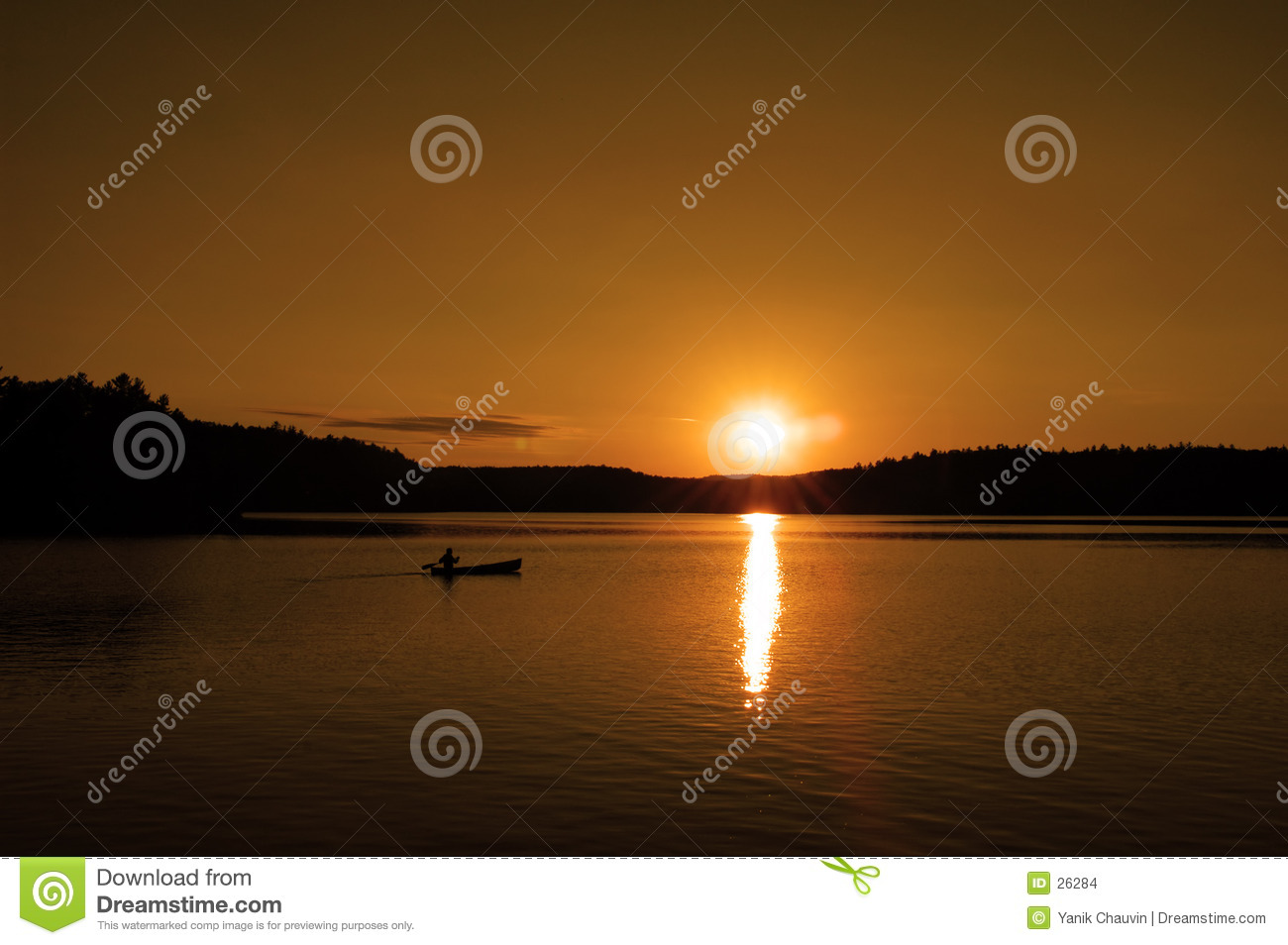 Canoe at sunset 2