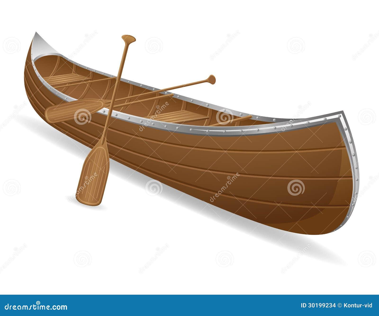 Canoe Vector Illustration Stock Images - Image: 30199234