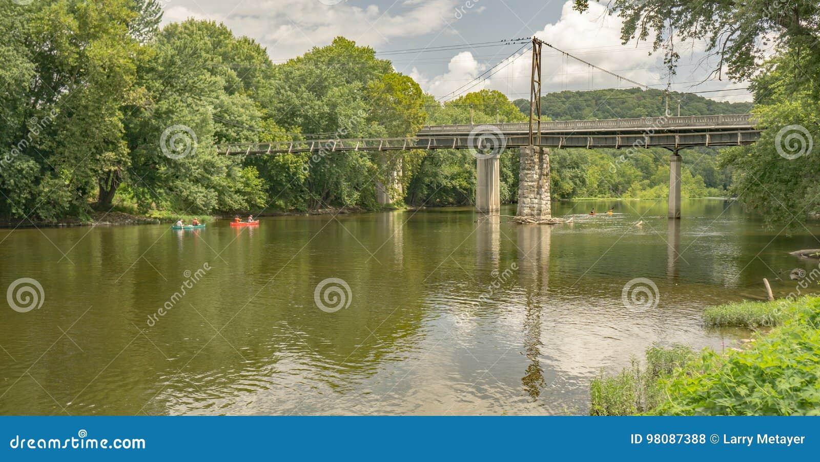 Canoeing auf James River