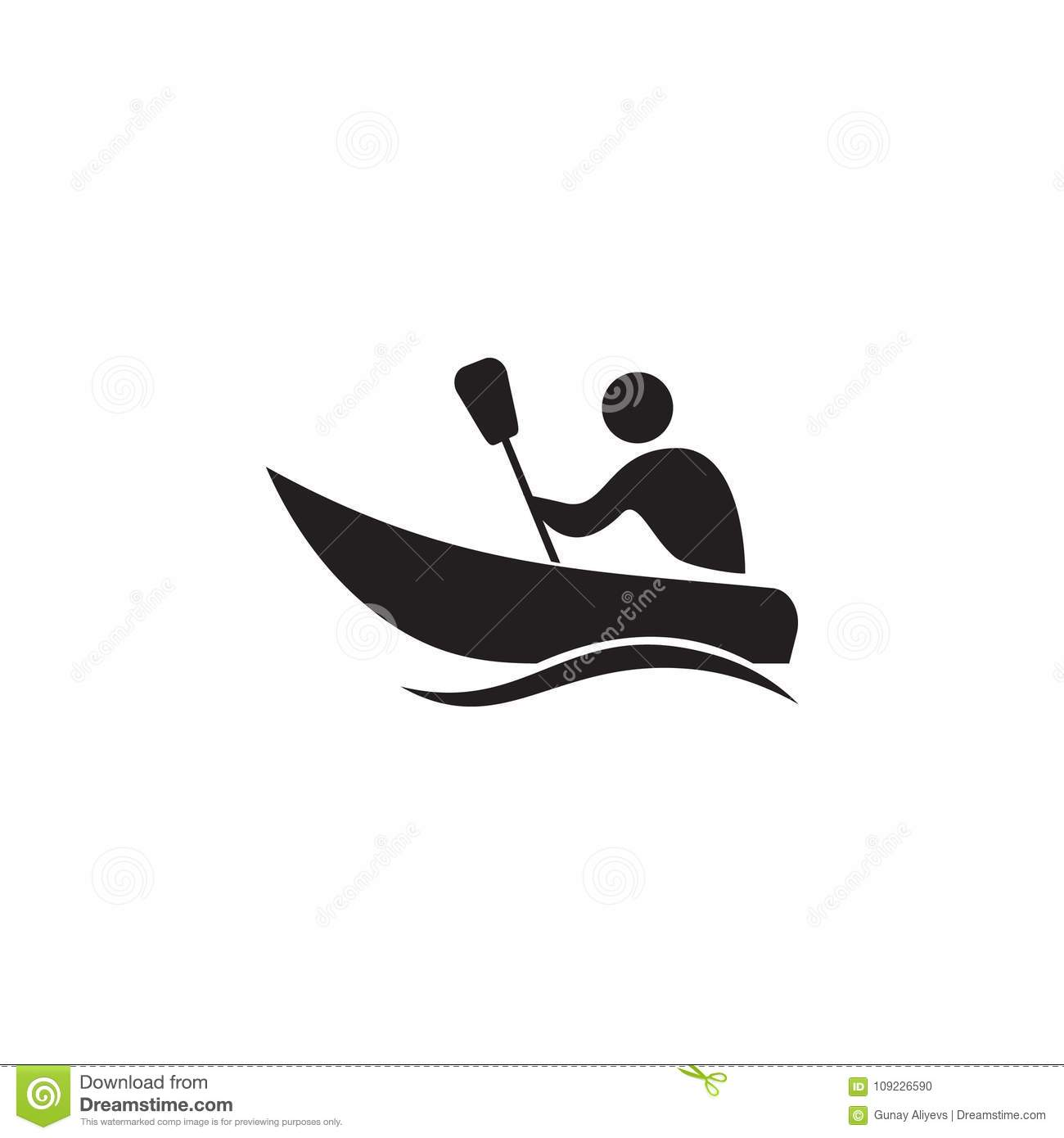Canoeing Icon Elements Of Sportsman Icon Premium Quality Graphic