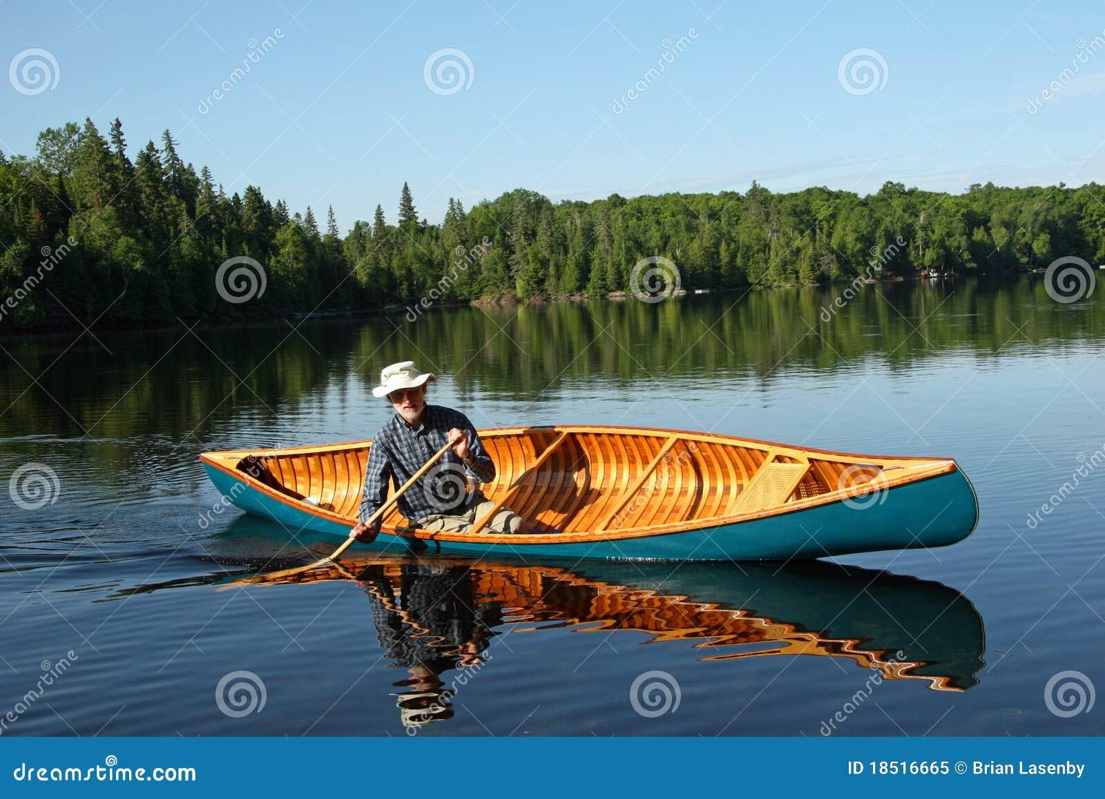 Canoeist - Northern Ontario. Canada