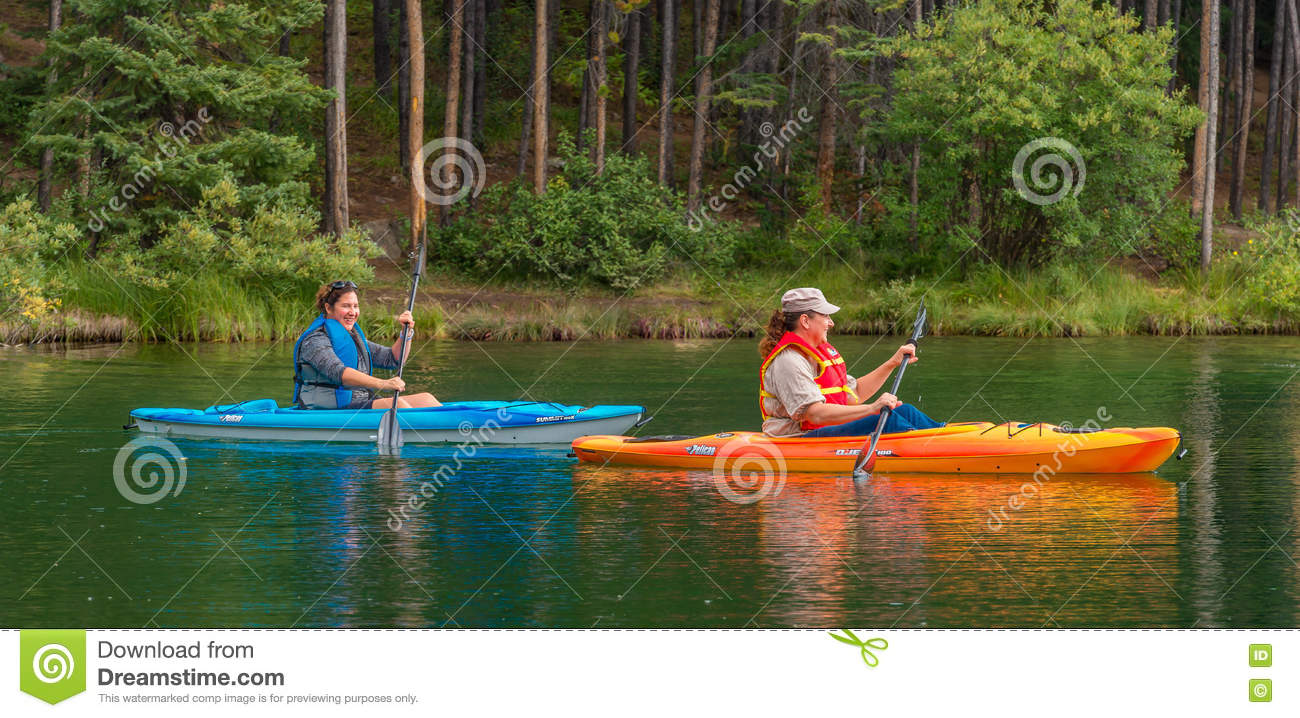 Canoers on Herbert Lake