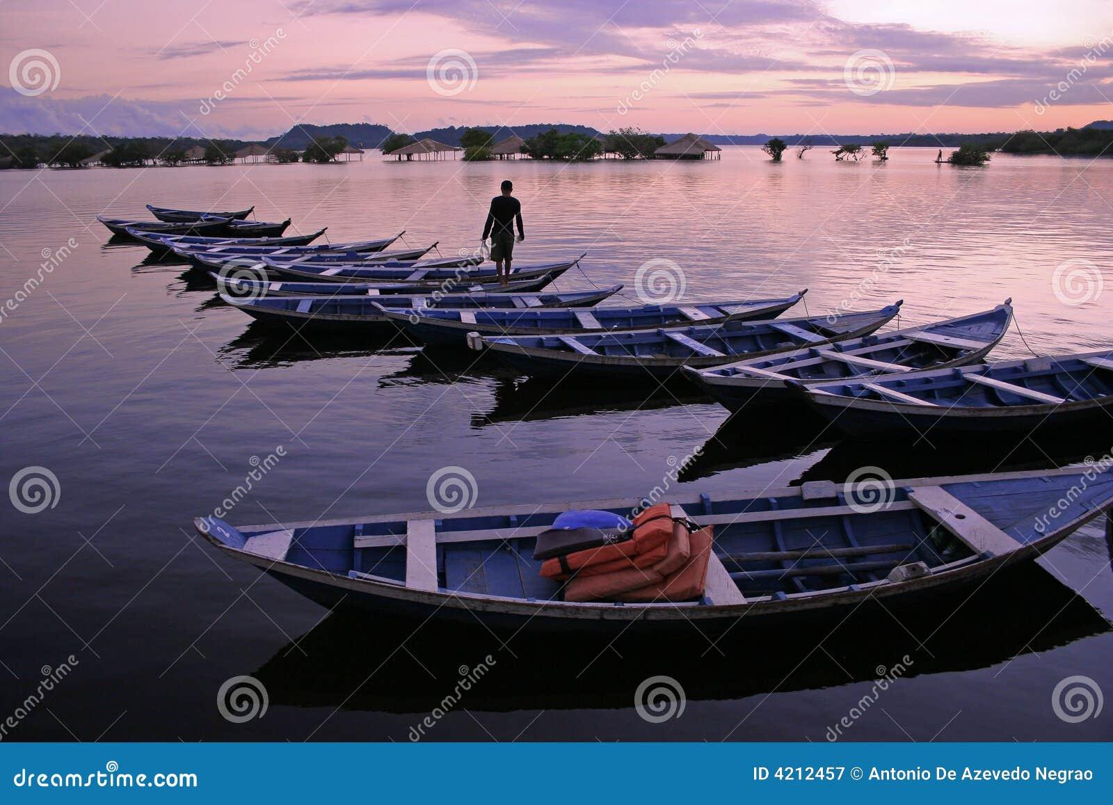 Canoes in Amazonia
