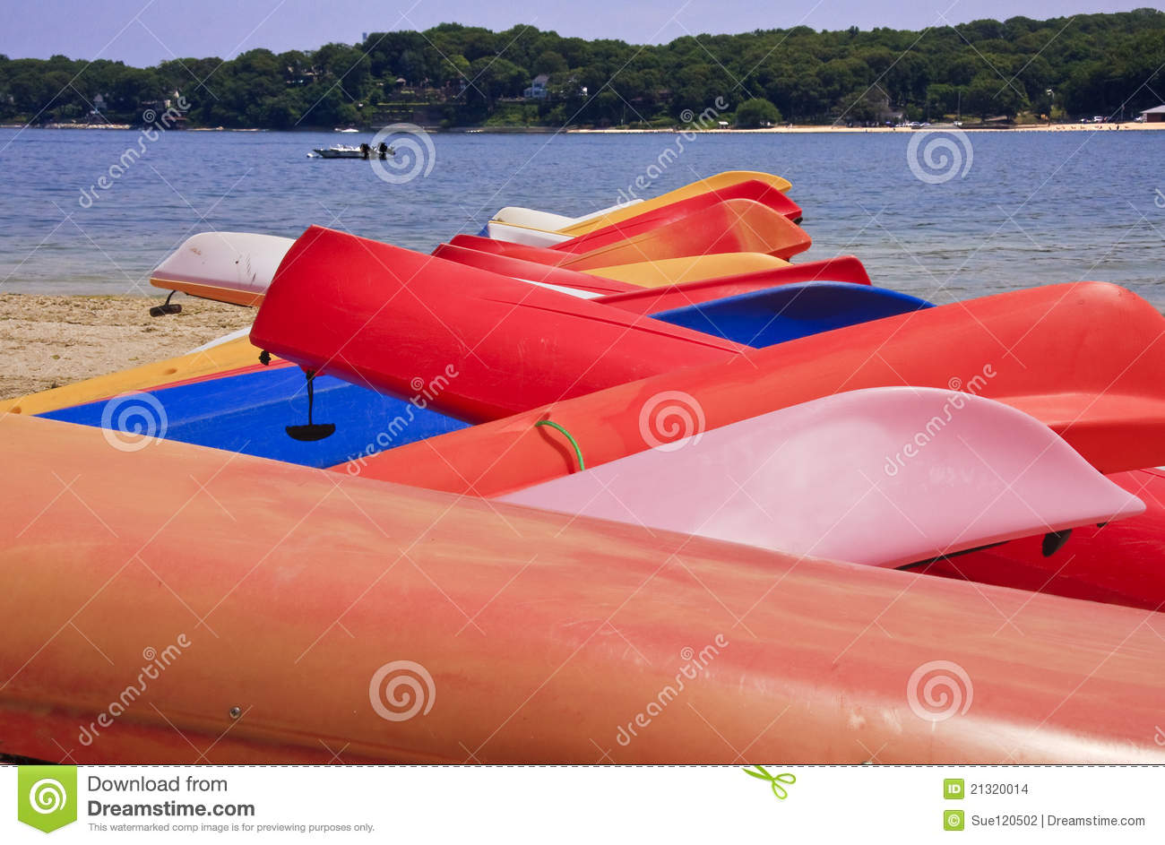 Canoes on the beach stock photo. Image of abstract, boats ...
