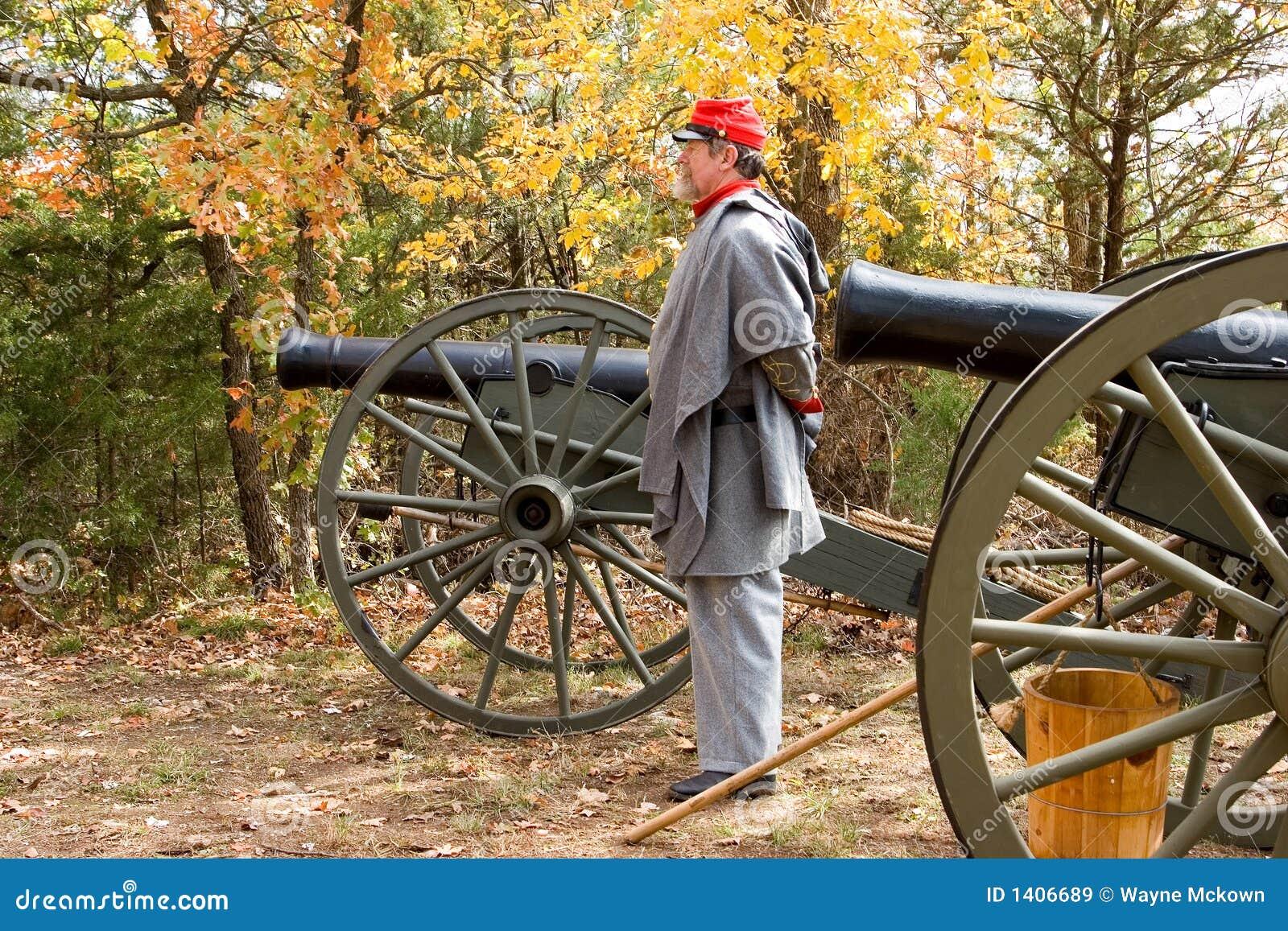 Canon 6 de guerre civile de reproduction