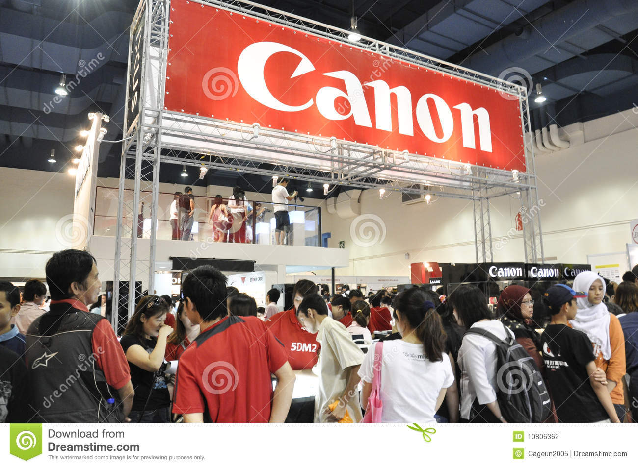 Exhibition Booth Rental Kuala Lumpur : Canon booth at klpf editorial photography image