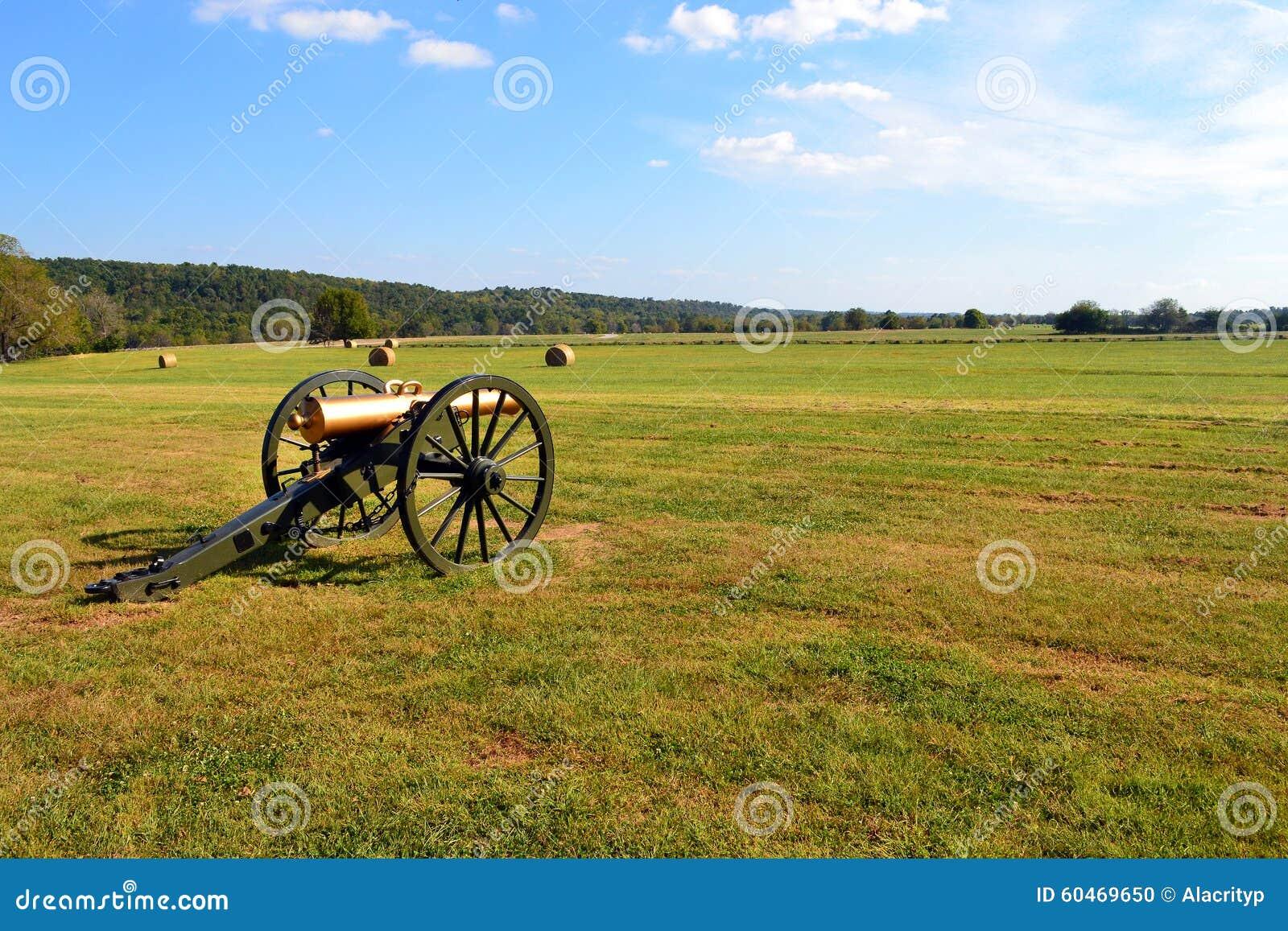 Canon de guerre civile à la crique de Wilson
