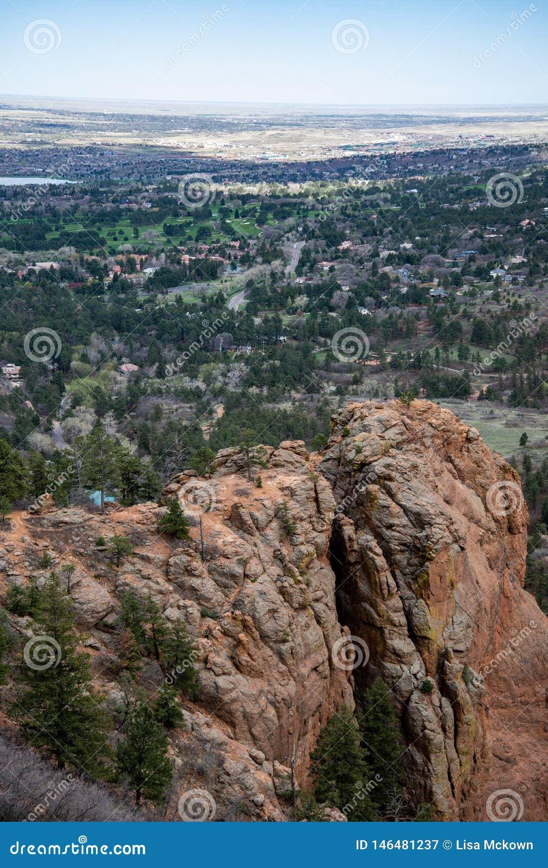 Canon du nord Colorado Springs de canyon de Cheyenne