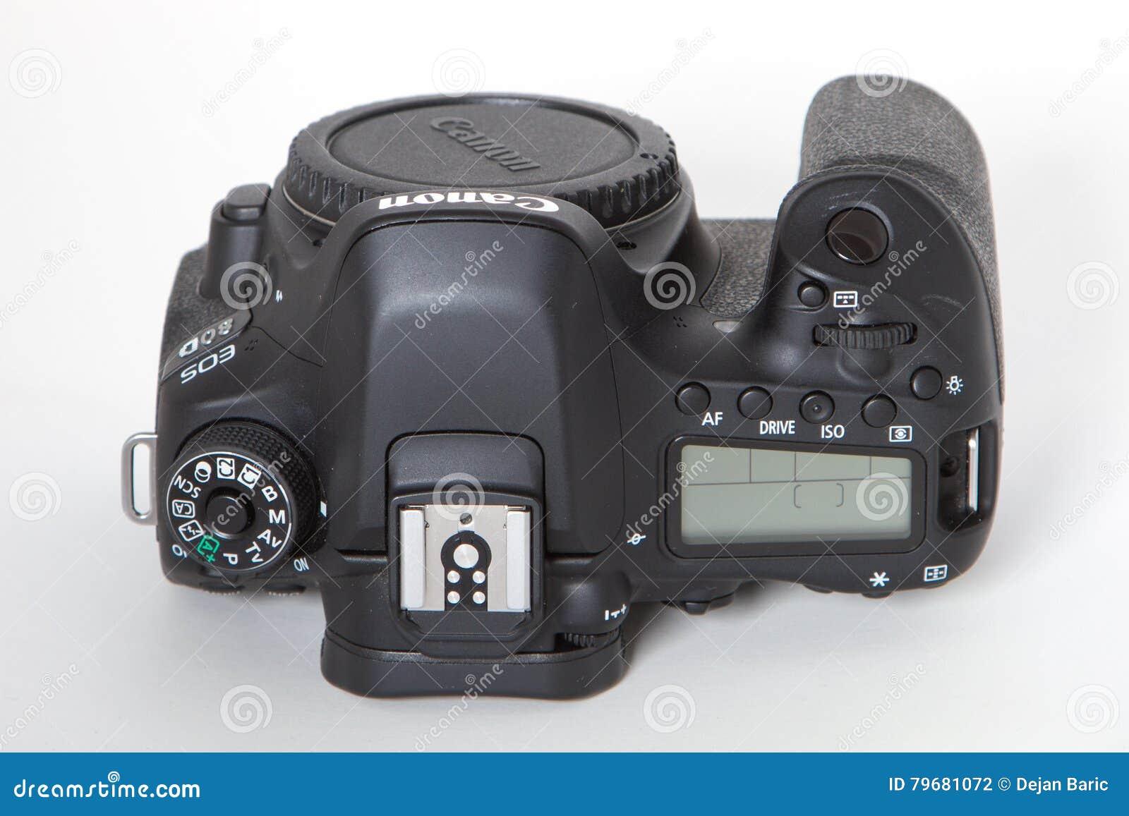 Canon EOS 80D DSLR camera editorial photography  Image of