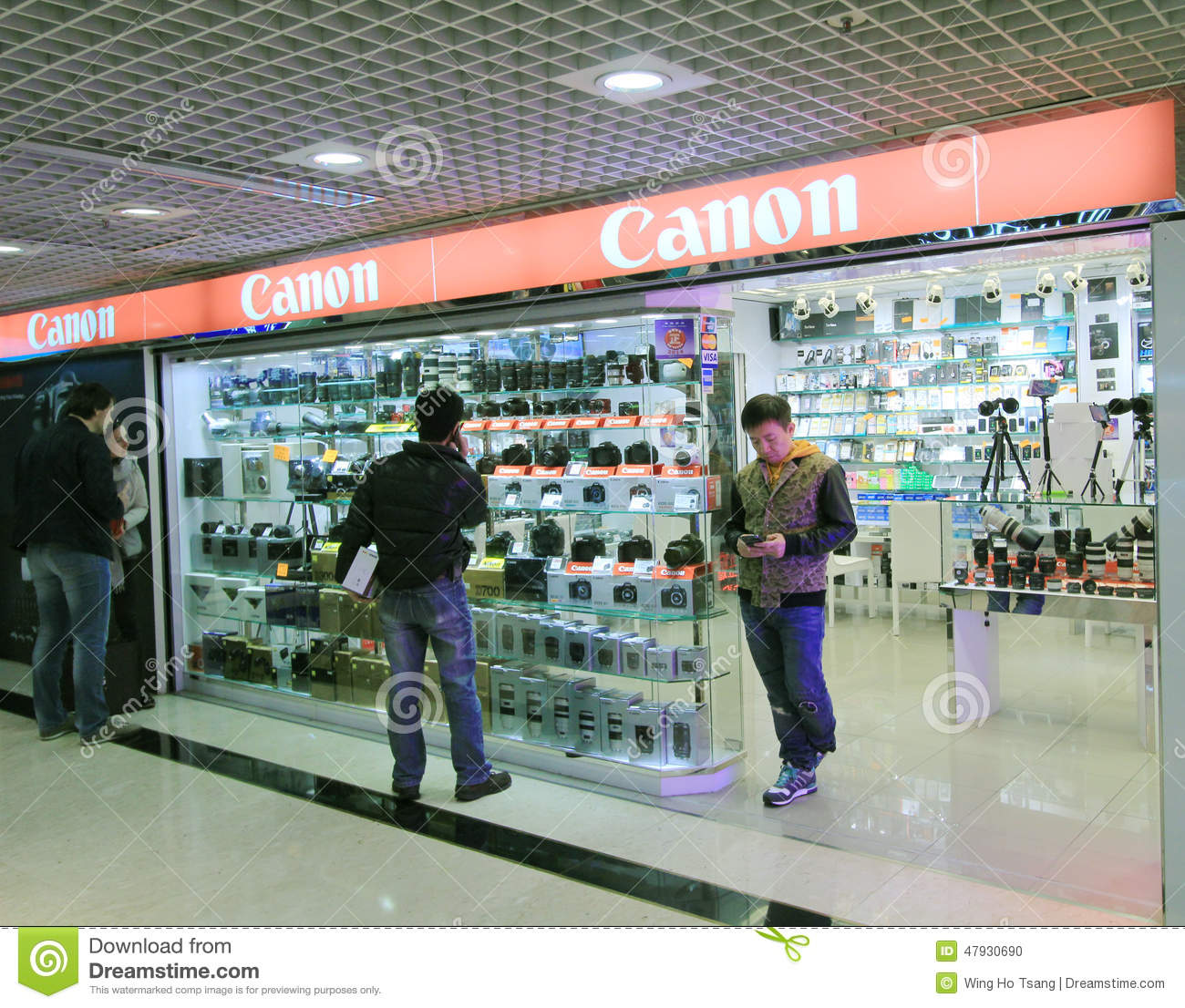 Hong Kong Shopping: Canon Shop In Hong Kong Editorial Image. Image Of Hong