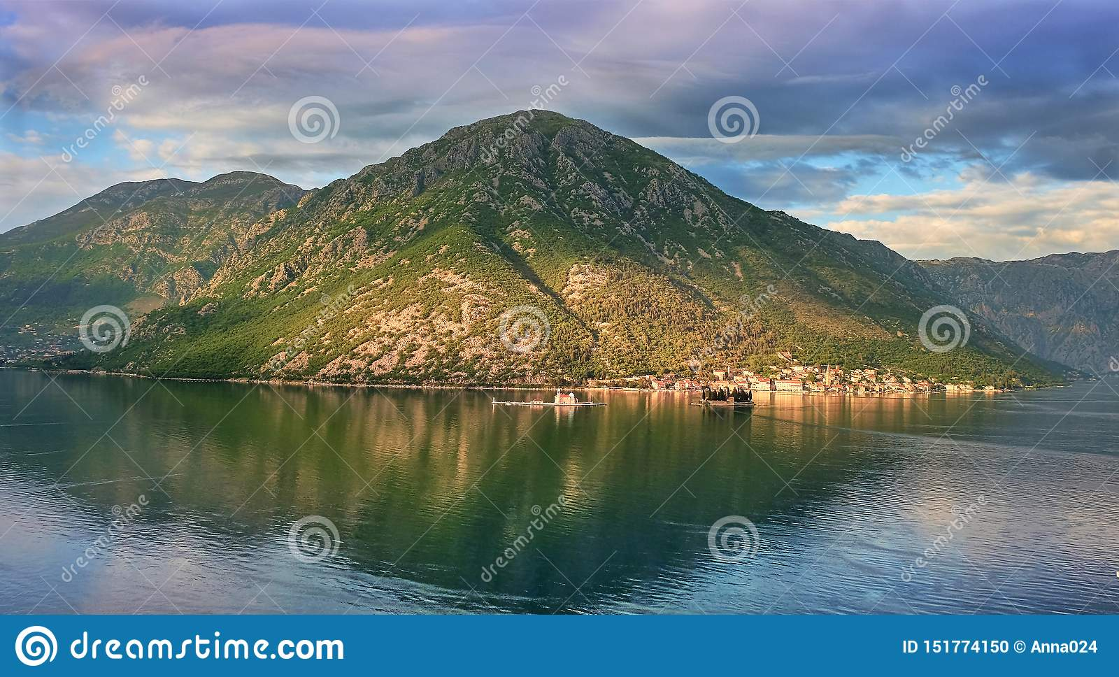 Canonical view in the Kotor bay, Montenegro.