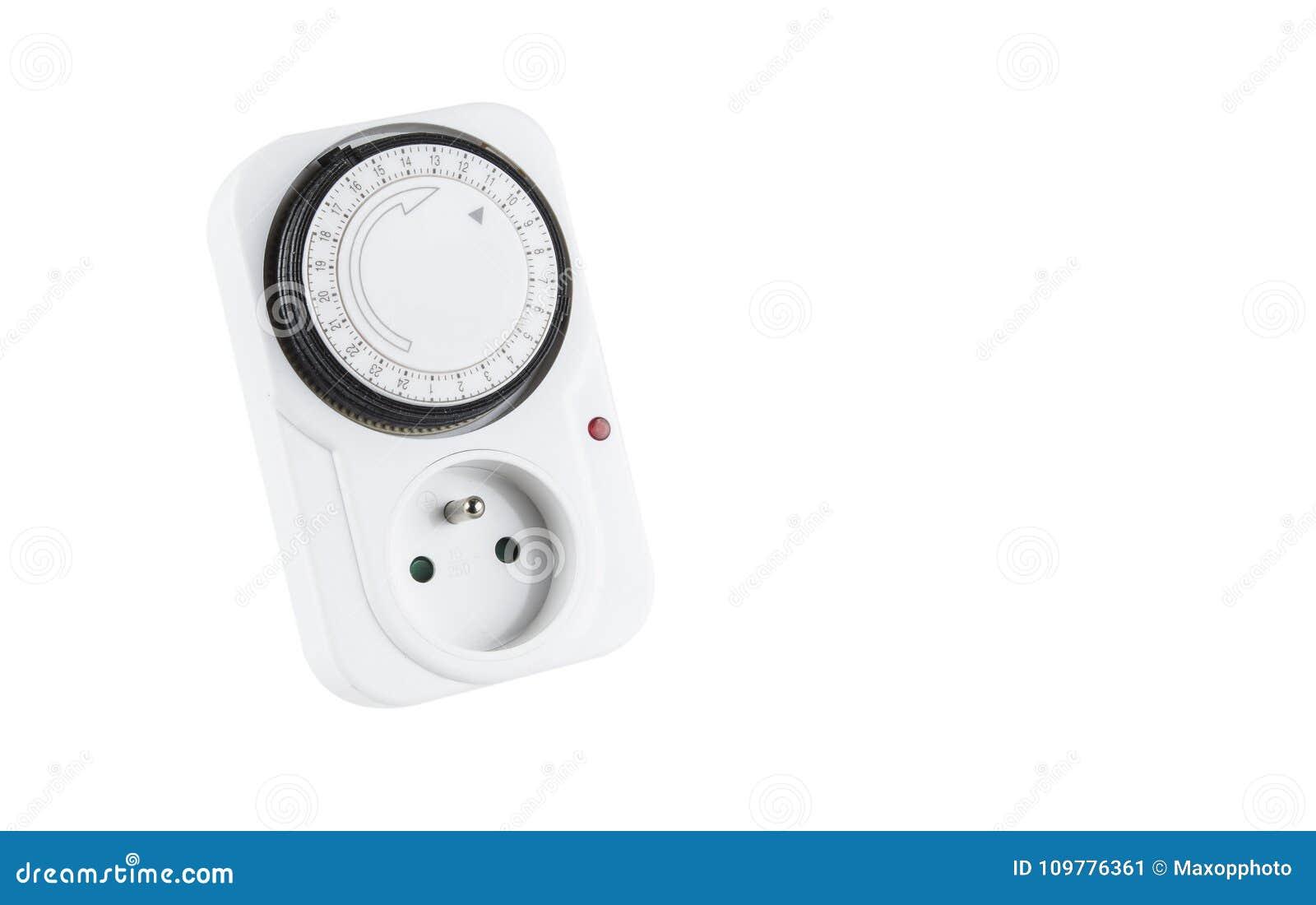 24 canos principais da hora obstruem dentro o soquete do europeu do relógio de ponto do interruptor do temporizador