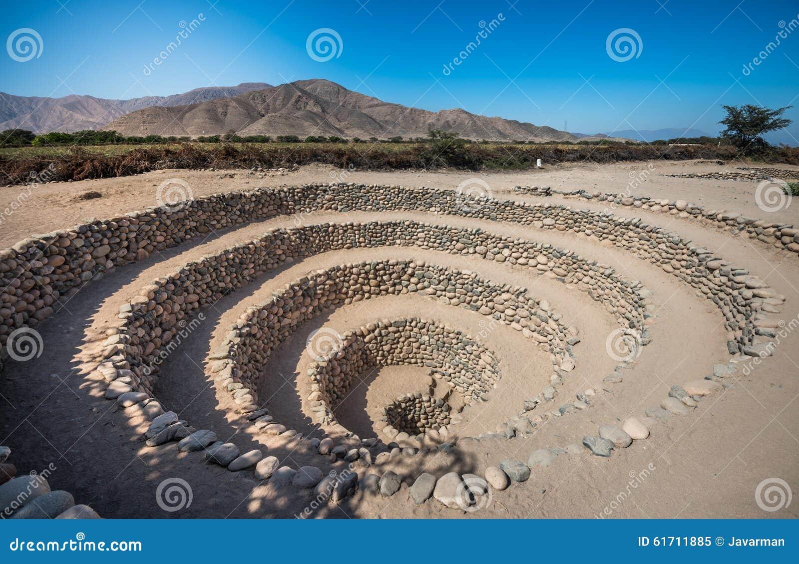 Download Cantalloc Aqueduct Near Nazca, Peru Stock Image - Image of destination, cantalloc: 61711885
