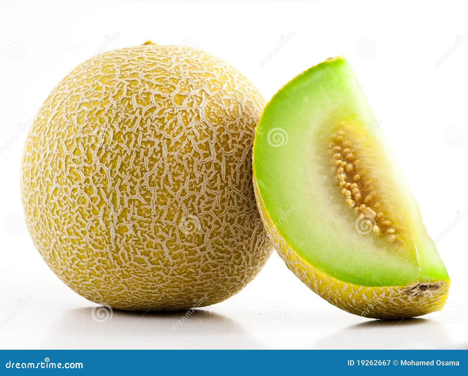 Cantaloupe cortado verde
