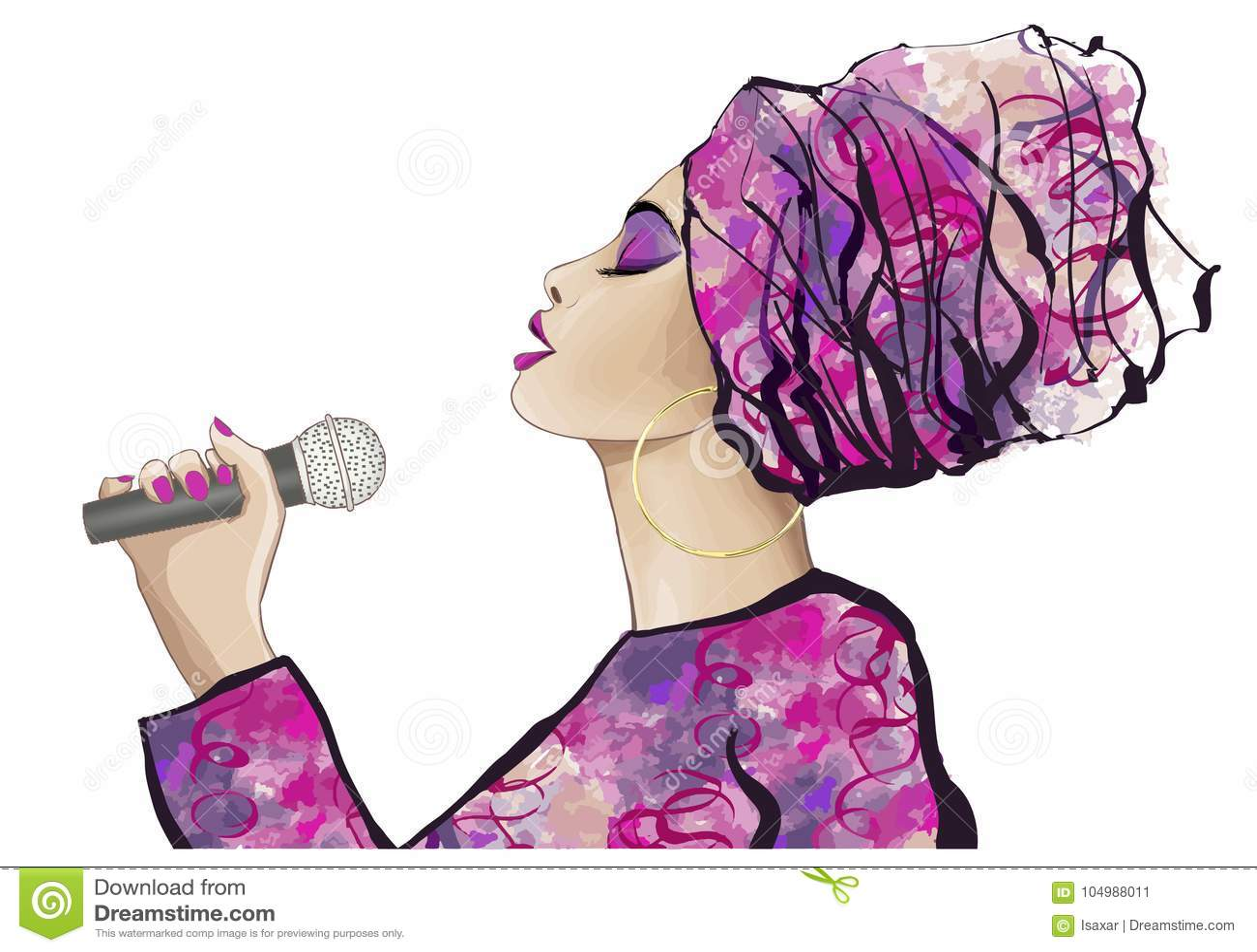 Cantante africano di jazz