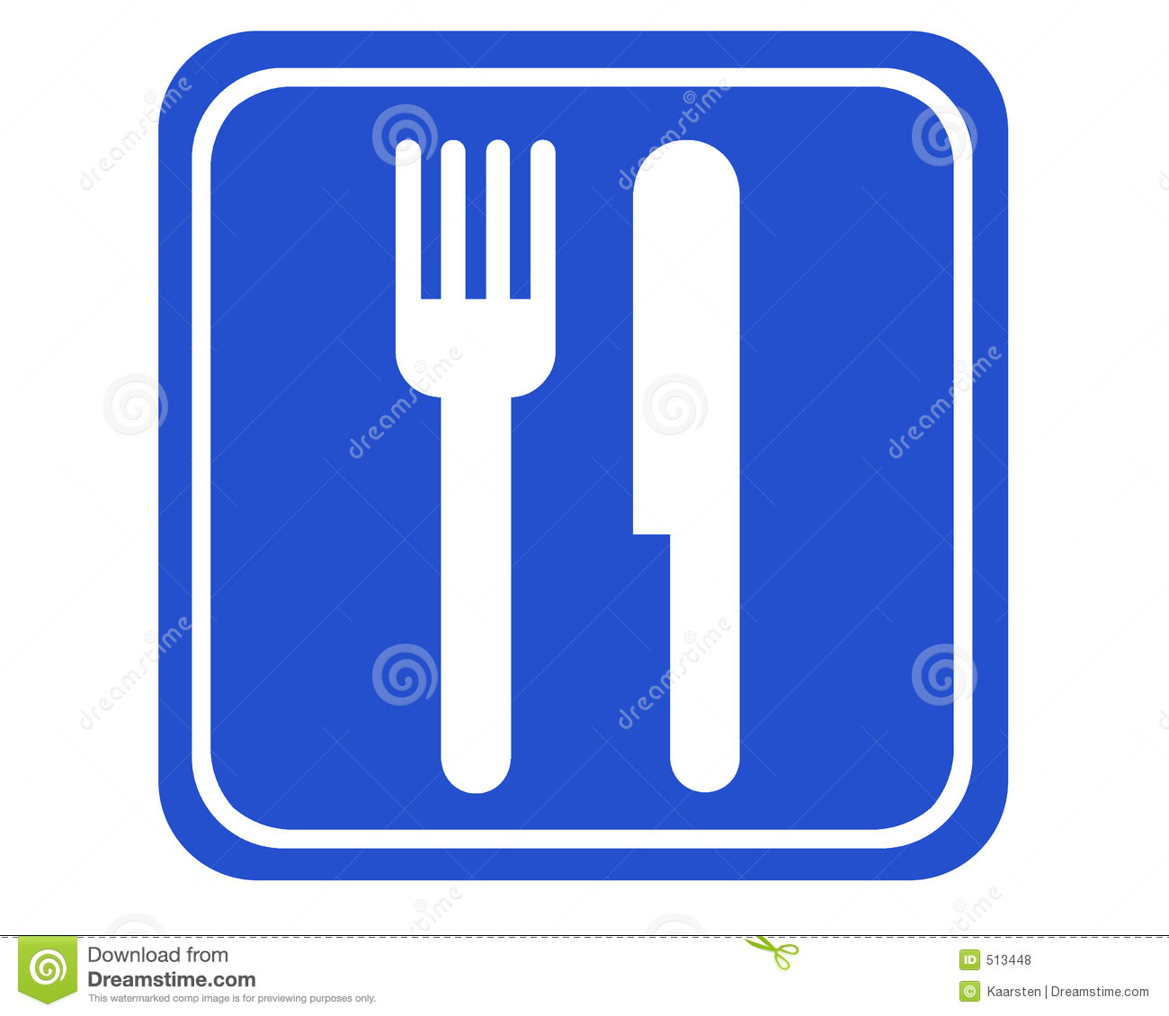 typical blue sign showing the way to the next canteen or restaurant.