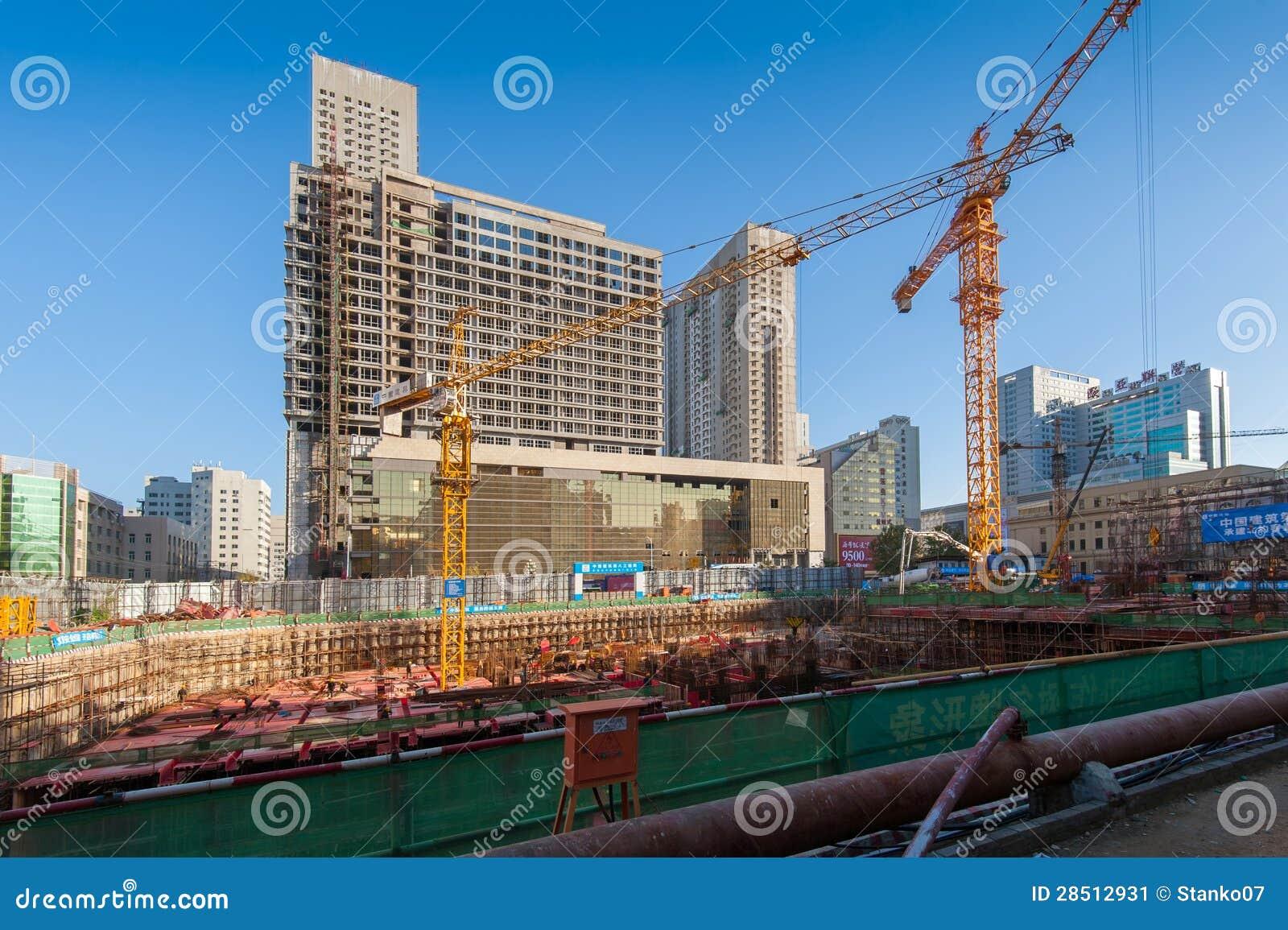 Canteiro de obras em China