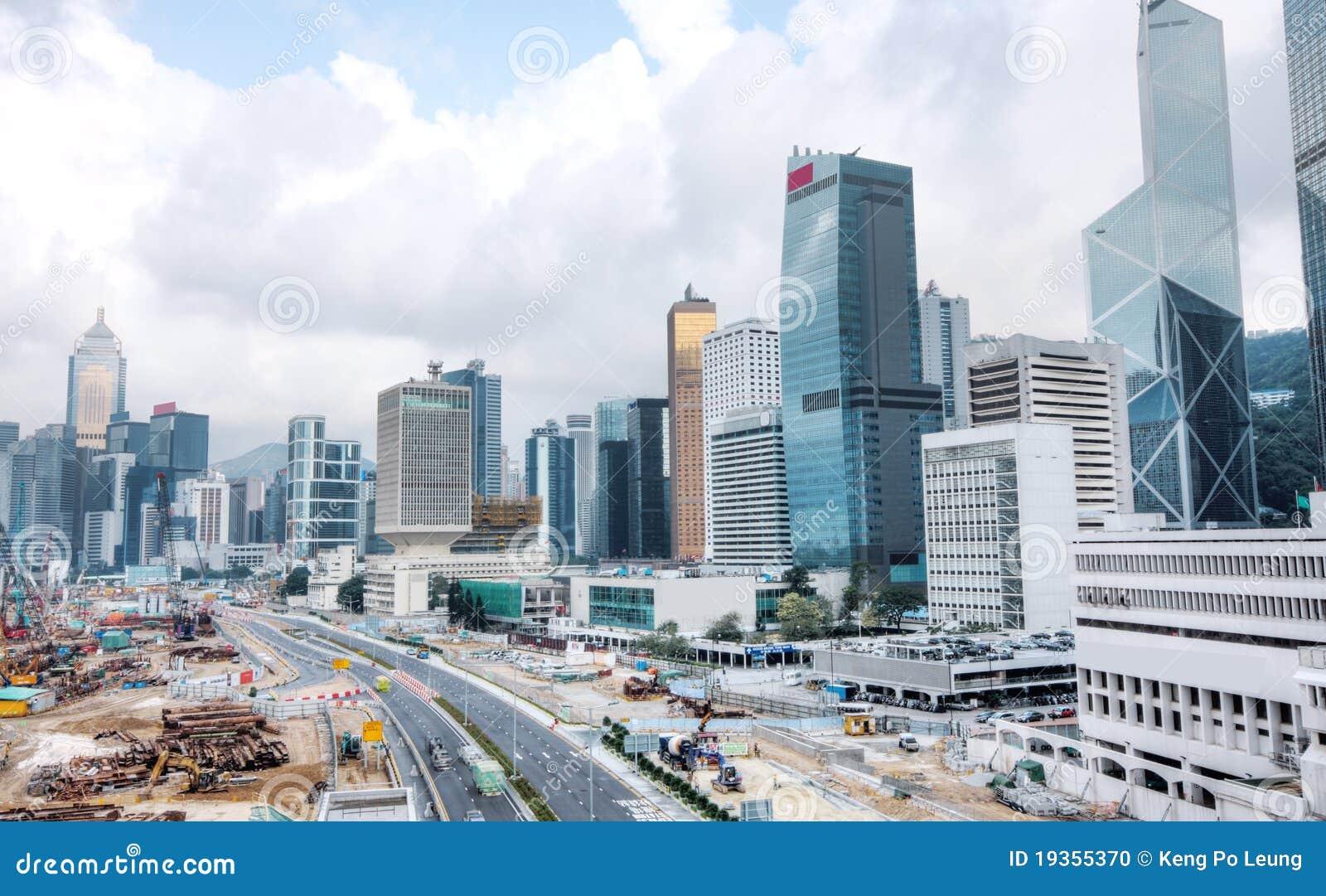 Canteiro de obras enorme em Hong Kong