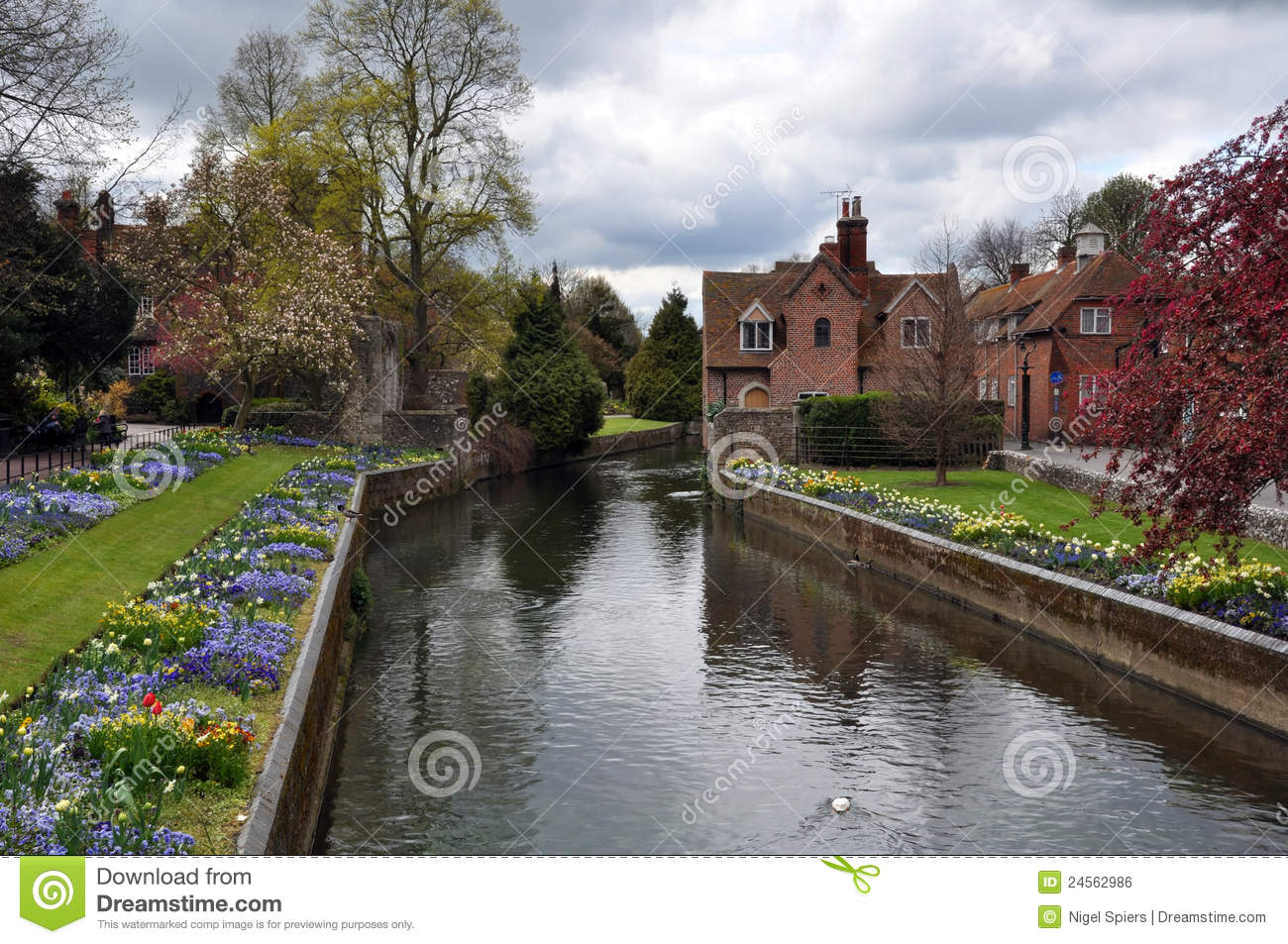 Canterbury United Kingdom  city pictures gallery : Canterbury, United Kingdom River & Gardens Royalty Free Stock Image ...