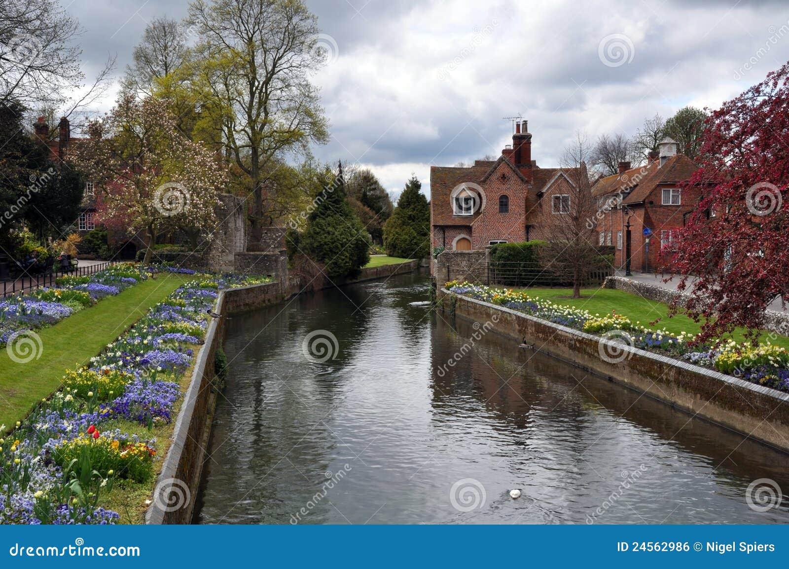 Canterbury United Kingdom  city photos gallery : Canterbury, United Kingdom River & Gardens Royalty Free Stock Image ...