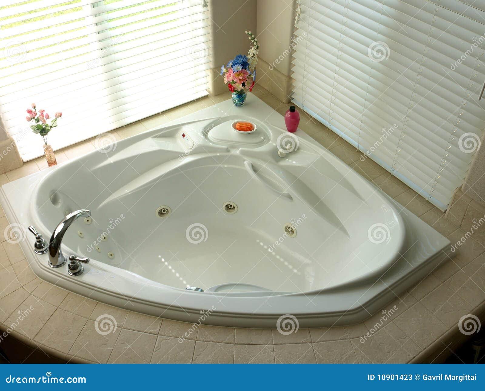 Canto Do Quarto Do Banho Com Banheira Moderna Fotos de Stock Imagem  #82A229 1300 1065