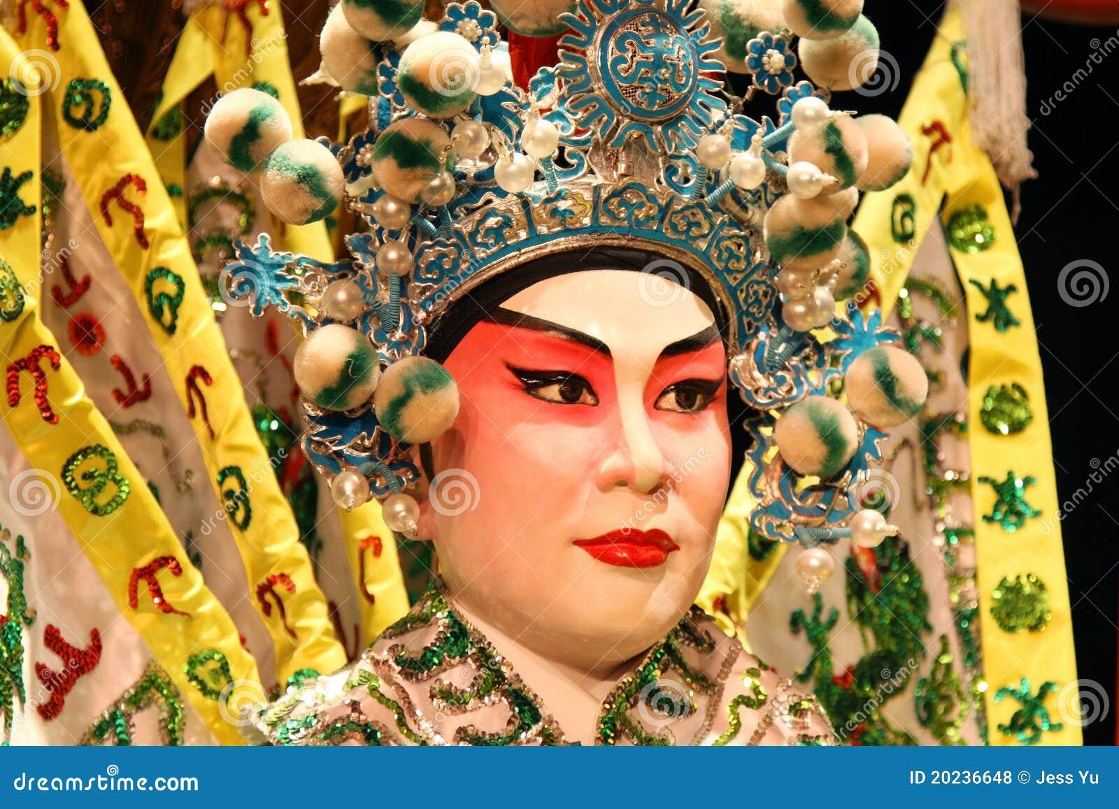 Cantonese opera dummy close-up.