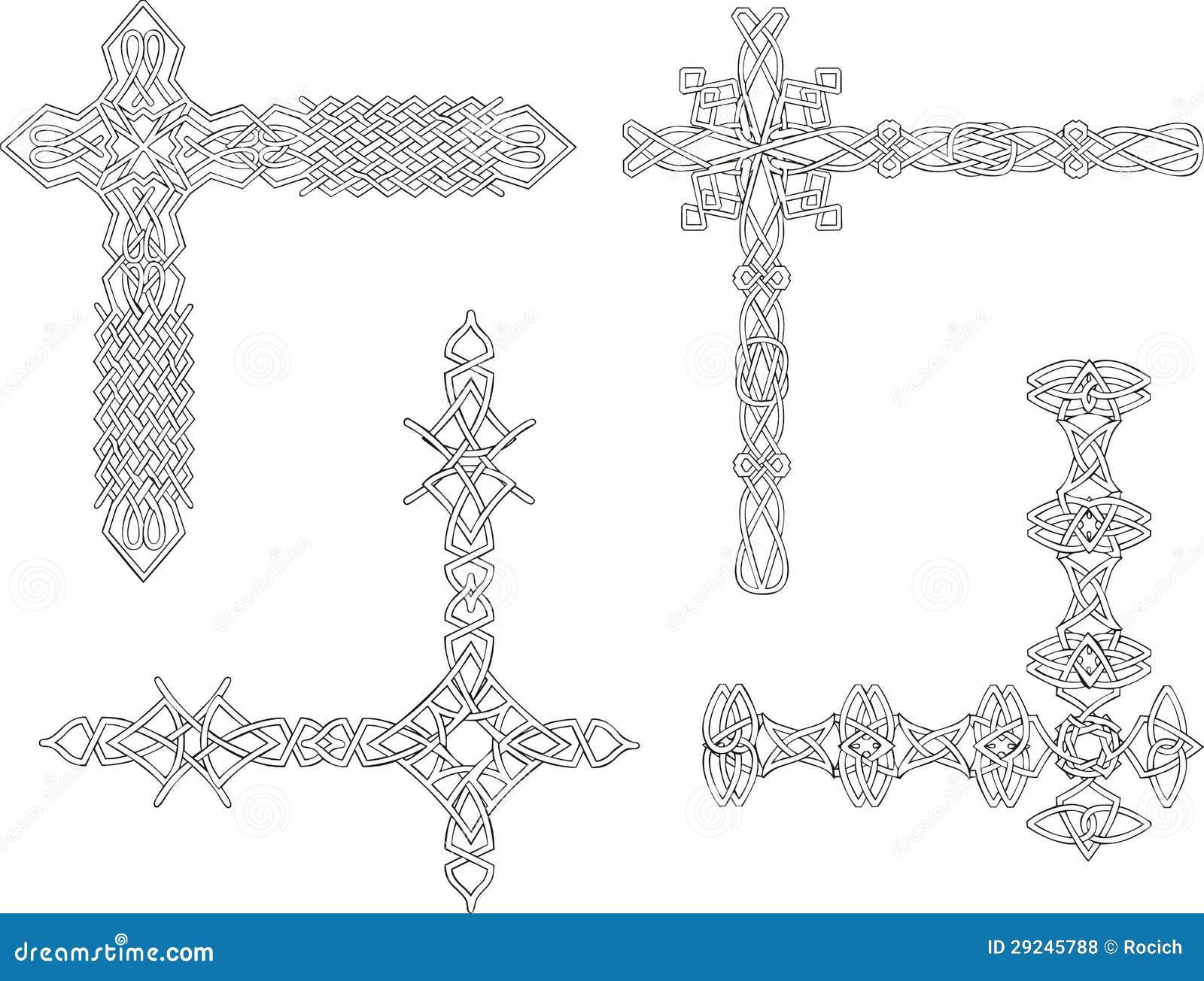Download Cantos Decorativos Celtas Do Nó Ilustração do Vetor - Ilustração de ornamental, velho: 29245788