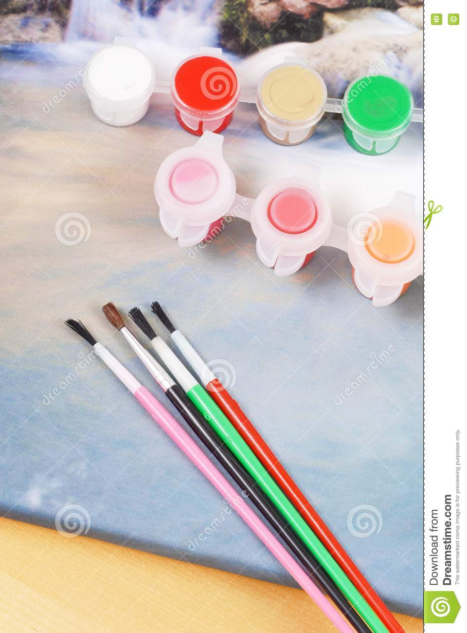 Canvas art painting stock photo image 20008850 for Canvas painting supplies