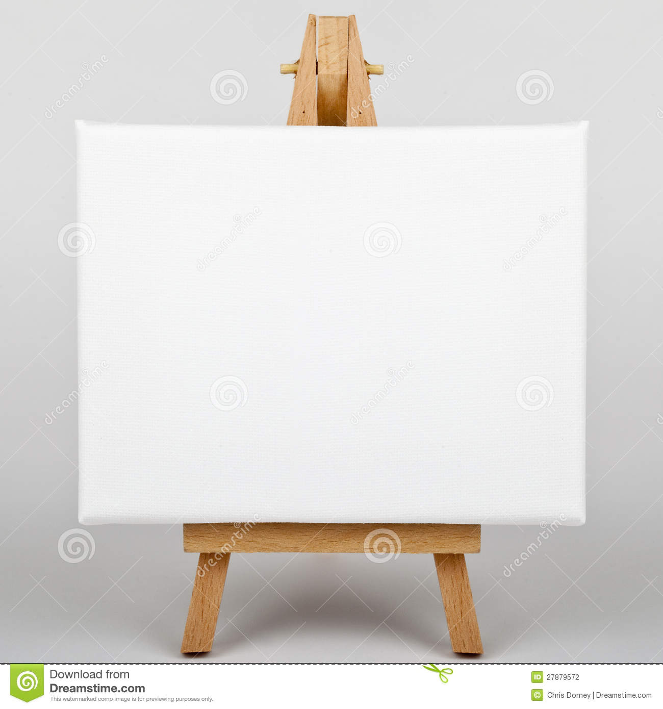 Canvas On Easel Stock Photography - Image: 27879572