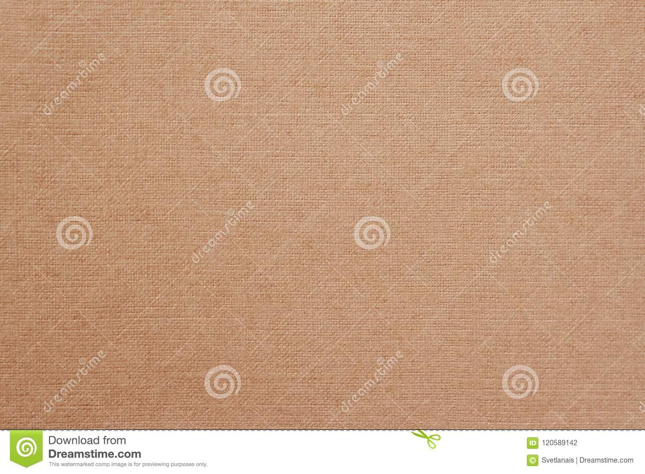 Canvas, fabric background with visible texture, print design elements. Closeup of warm, soft coffee color jute, texture