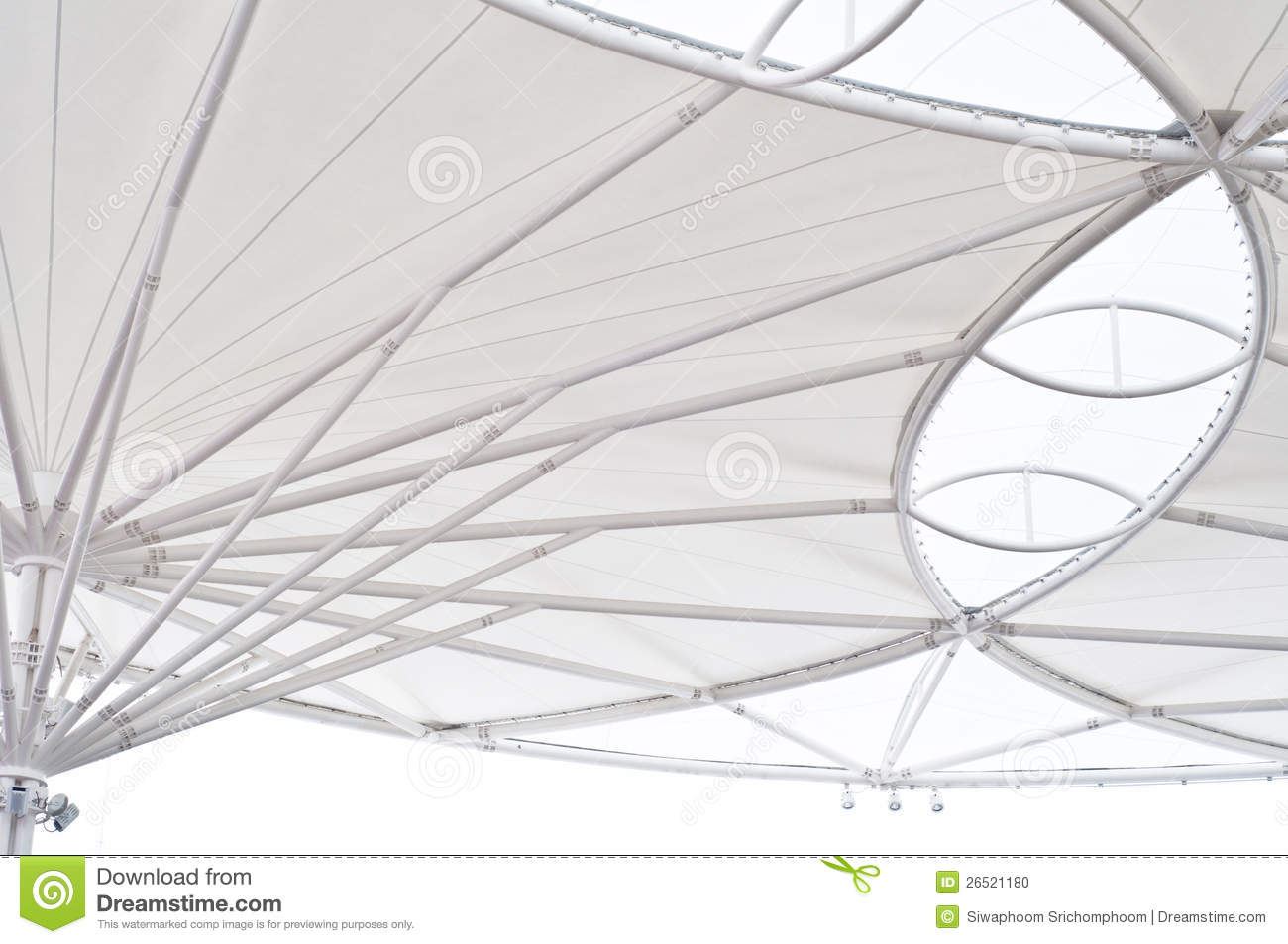 Canvas Roof Of Building Background Stock Photo Image