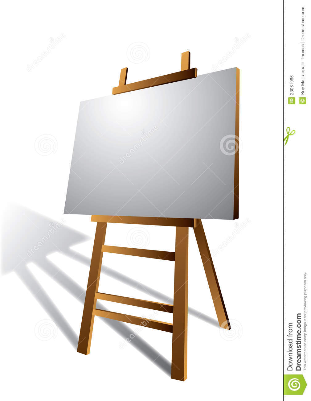 Canvas On Wooden Art Easel Royalty Free Stock Image - Image: 23061966