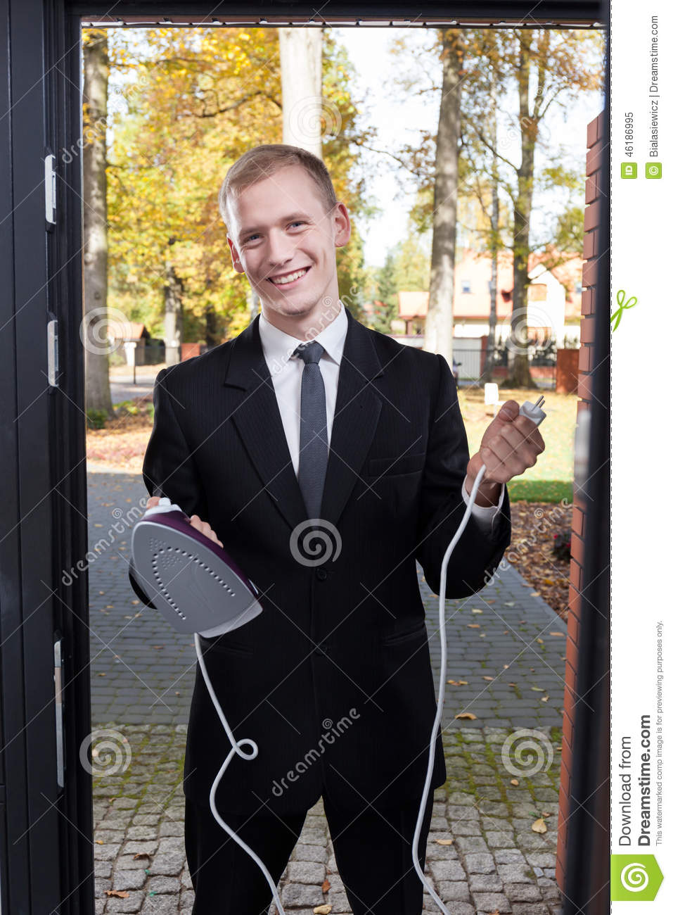 Canvasser trying to sell the iron