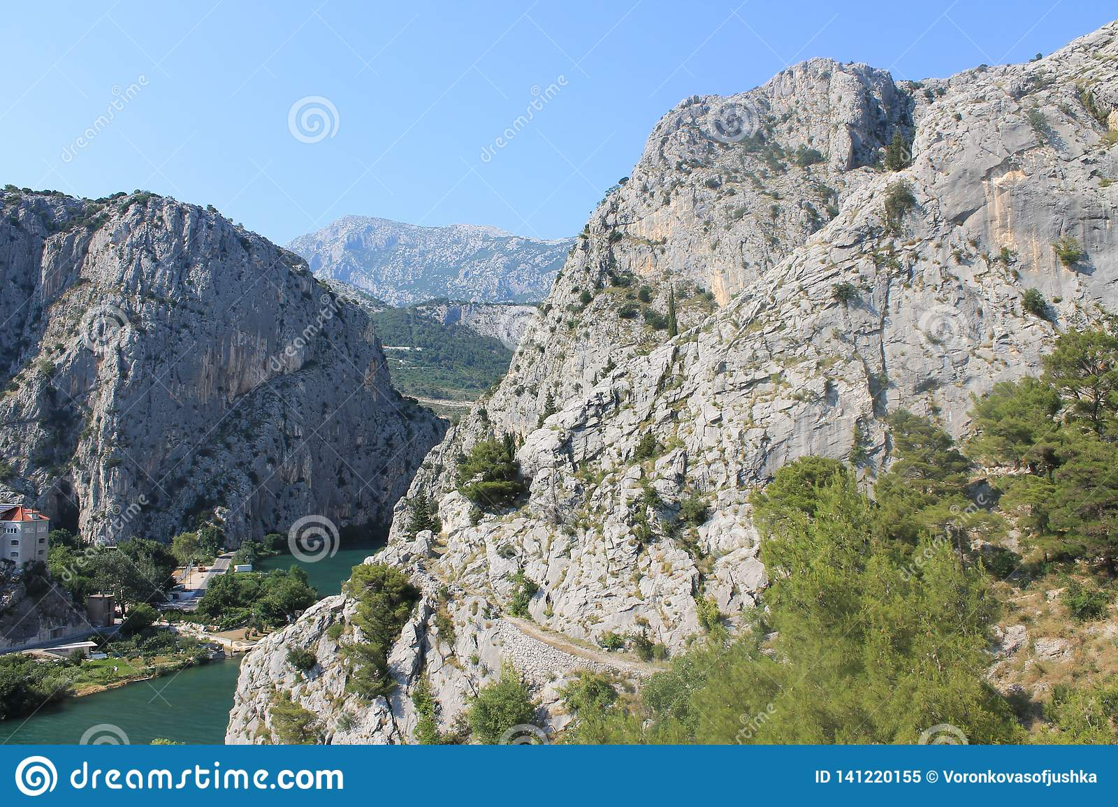 The canyon of the Cetina river in omiš, Croatia