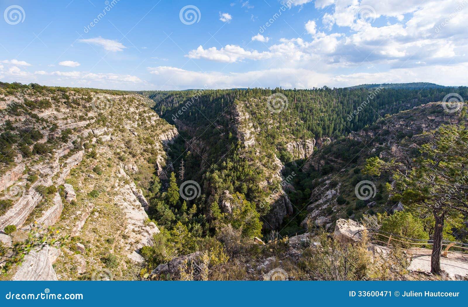 Canyon della noce sotto il cielo blu