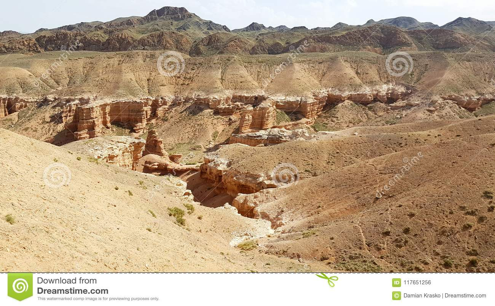 Canyon di Charyn in Kasachstan