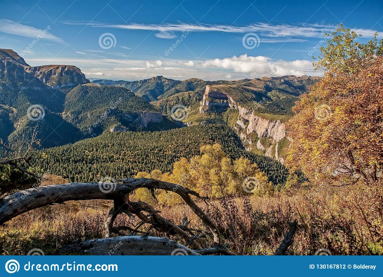 Canyon eastern slope of the Sikhote-Alin Range. Sikhote Alin, a mountainous country in the Far East