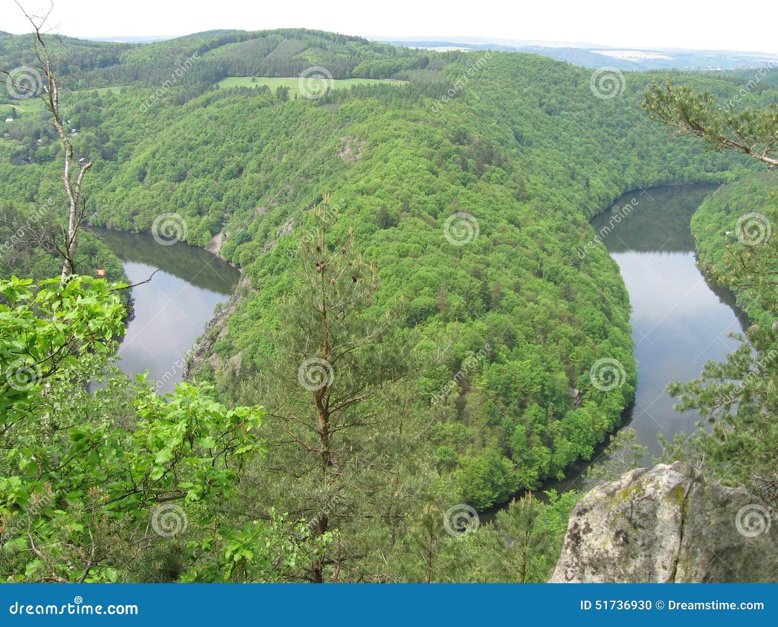 Canyon verde con il ferro di cavallo
