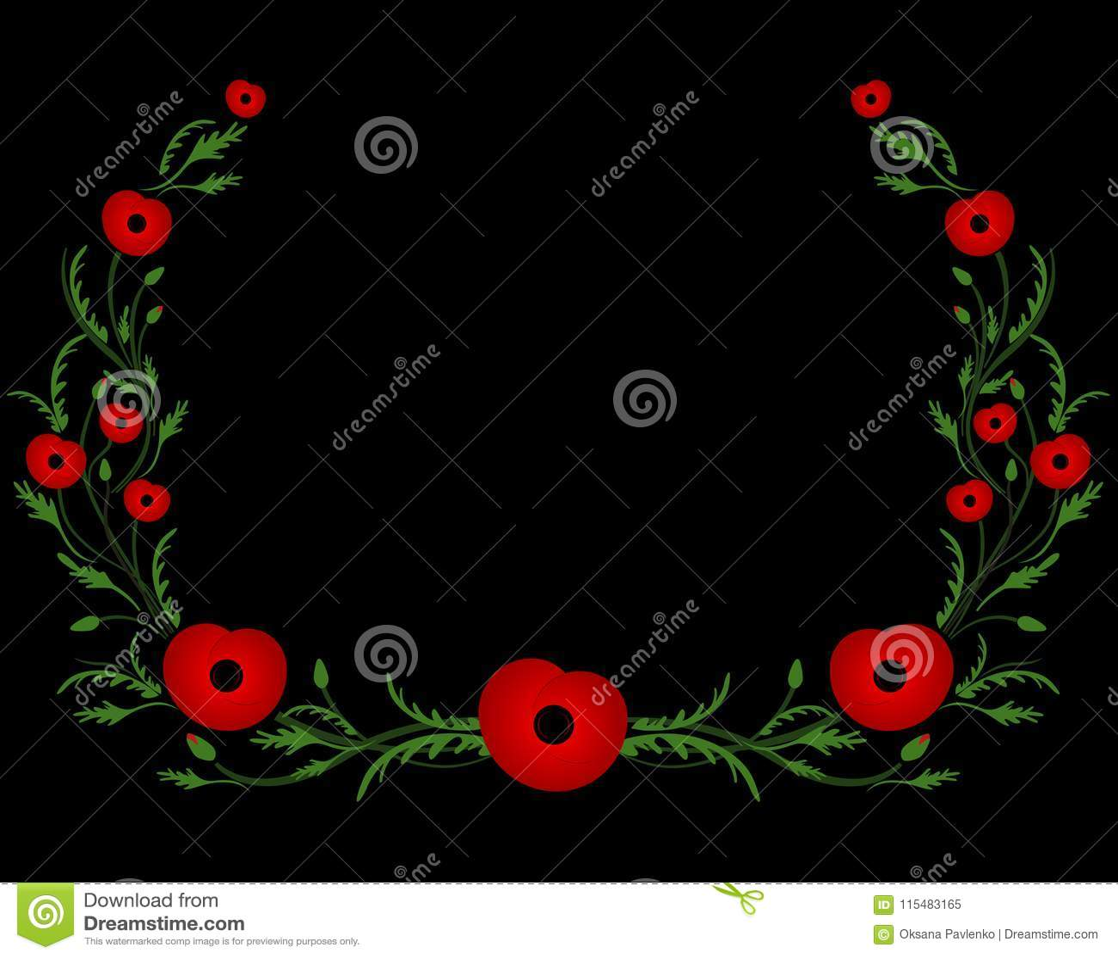 Capítulo con la amapola roja Segunda Guerra Mundial, símbolo conmemorativo