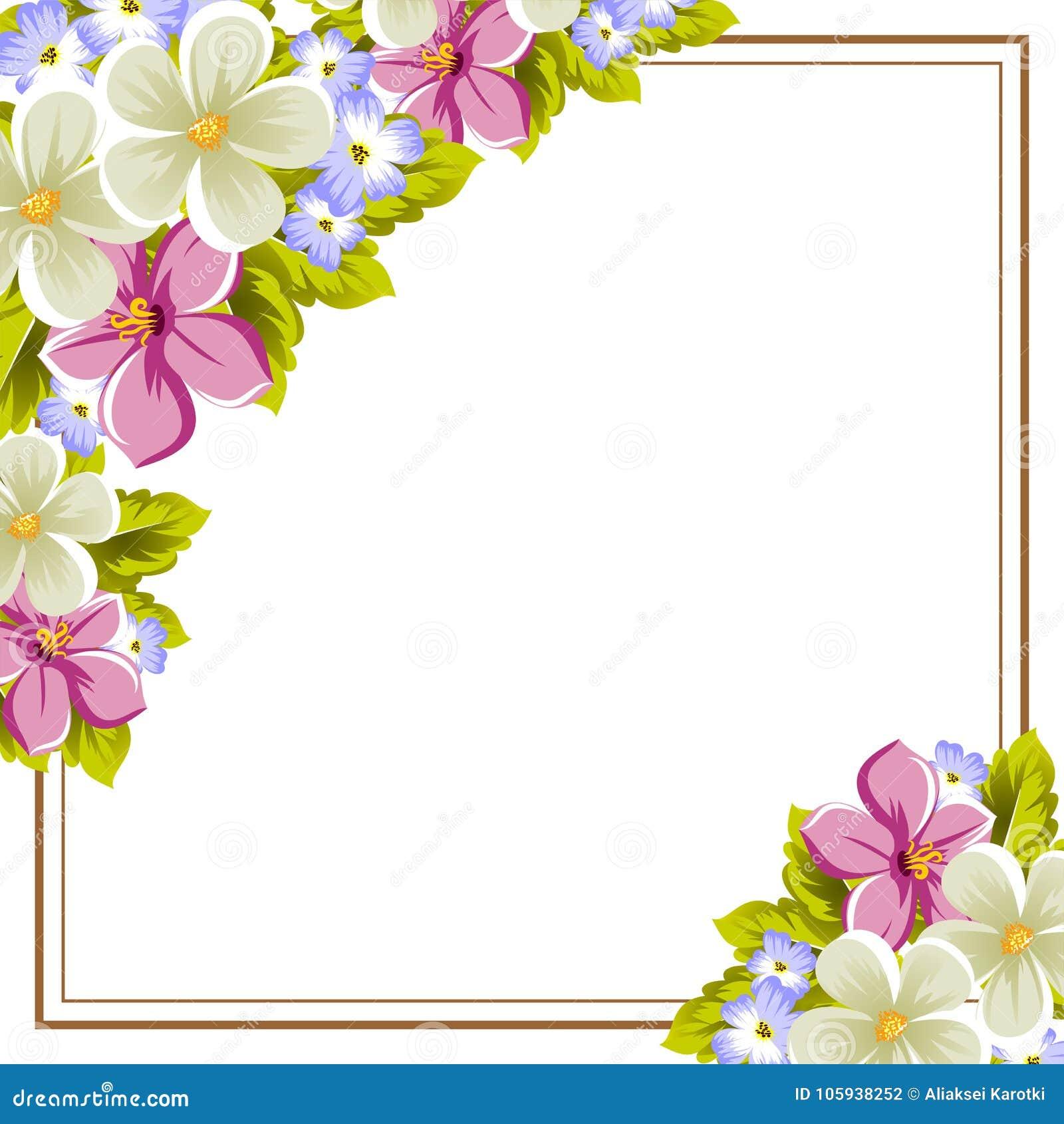 cap u00edtulo de algunas flores para el dise u00f1o de tarjetas