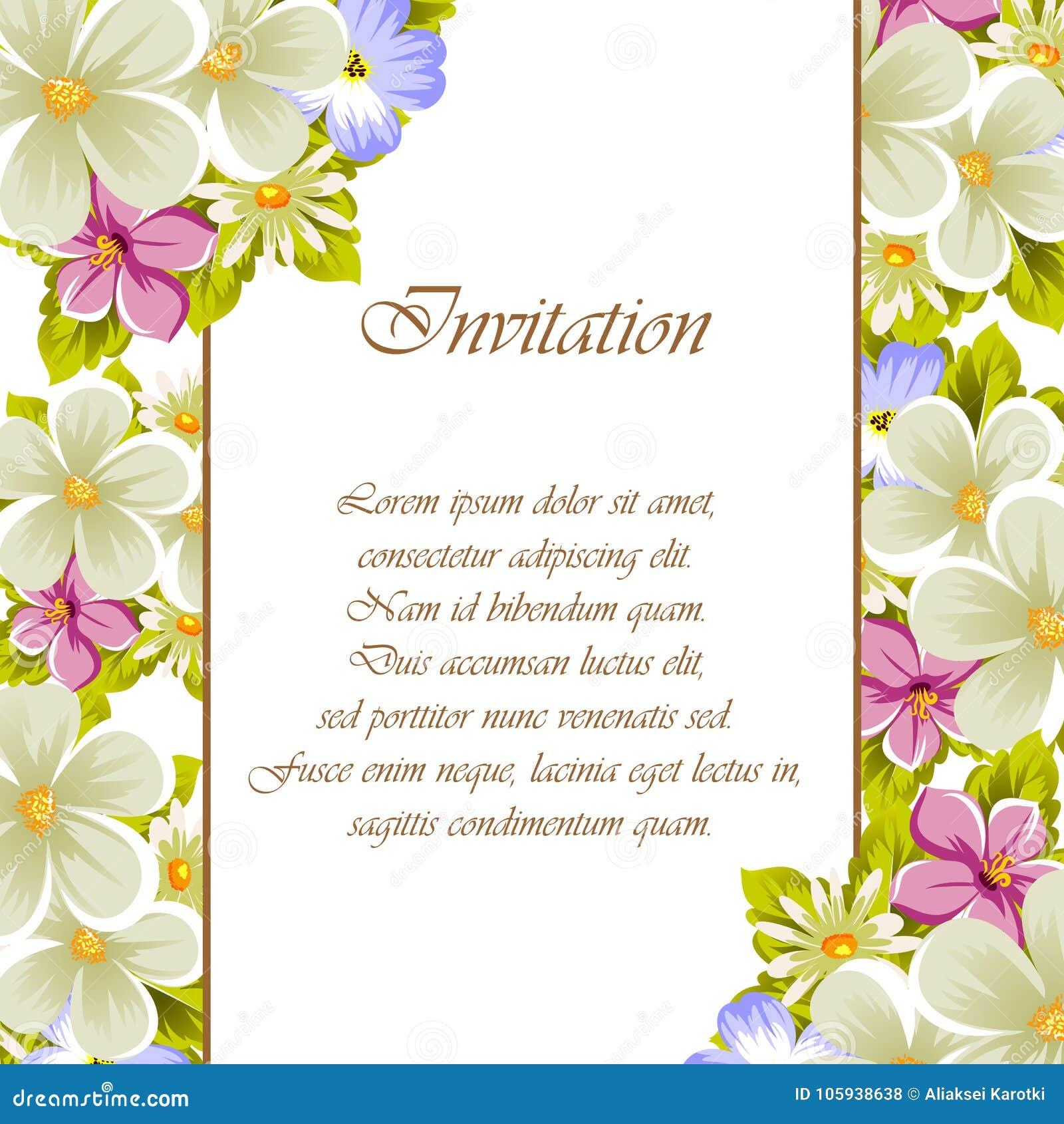 Cap tulo de algunas flores para el dise o de tarjetas - Disenos tarjetas de boda ...
